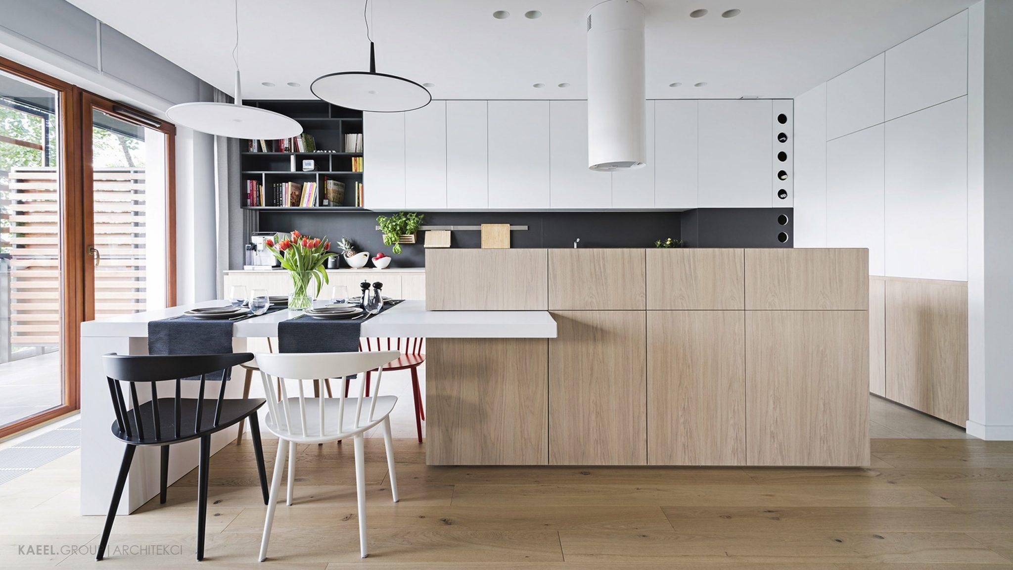 Architekci wnętrz Warszawa - Kuchnia z wyspą w mieszkaniu