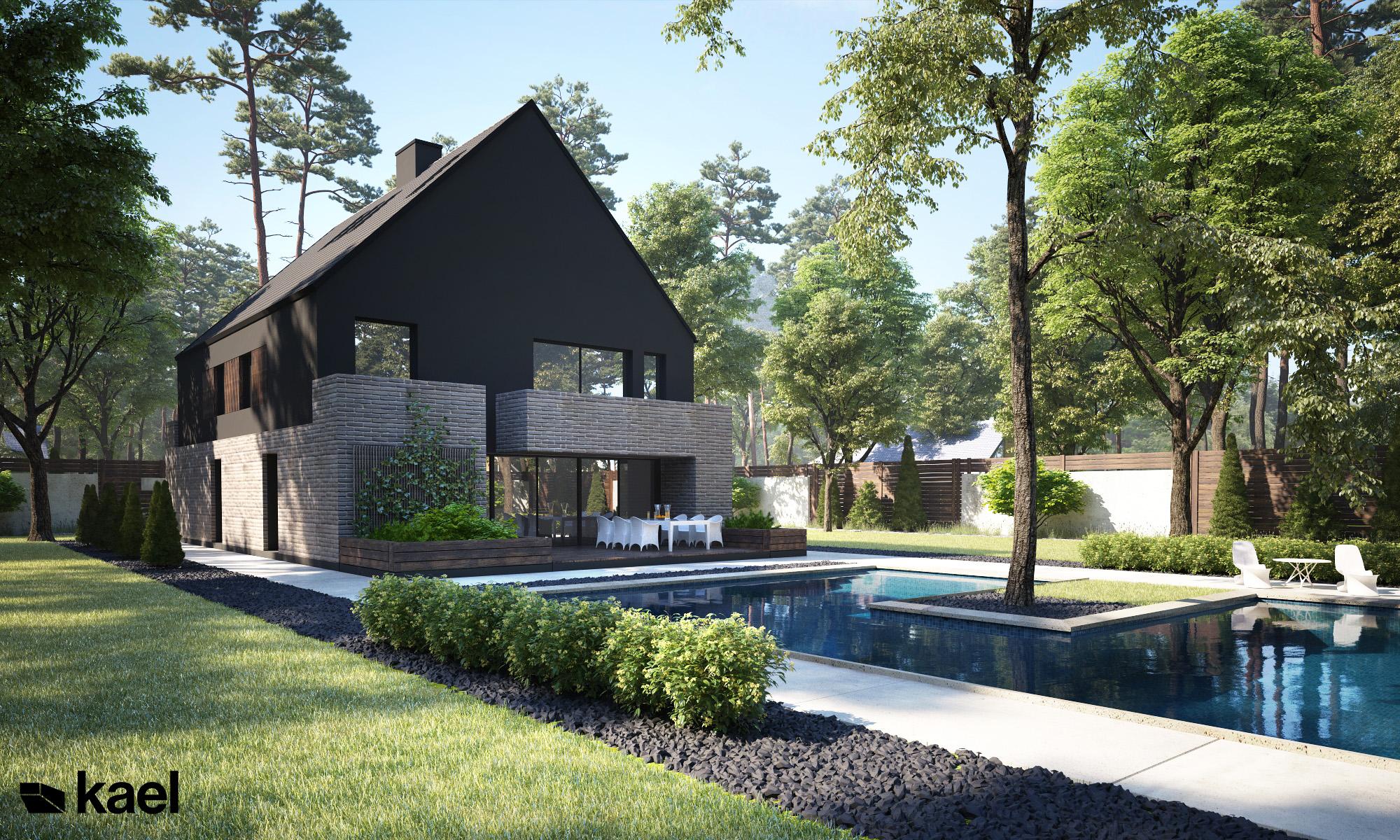 Dom jednorodzinny z tarasem i basenem