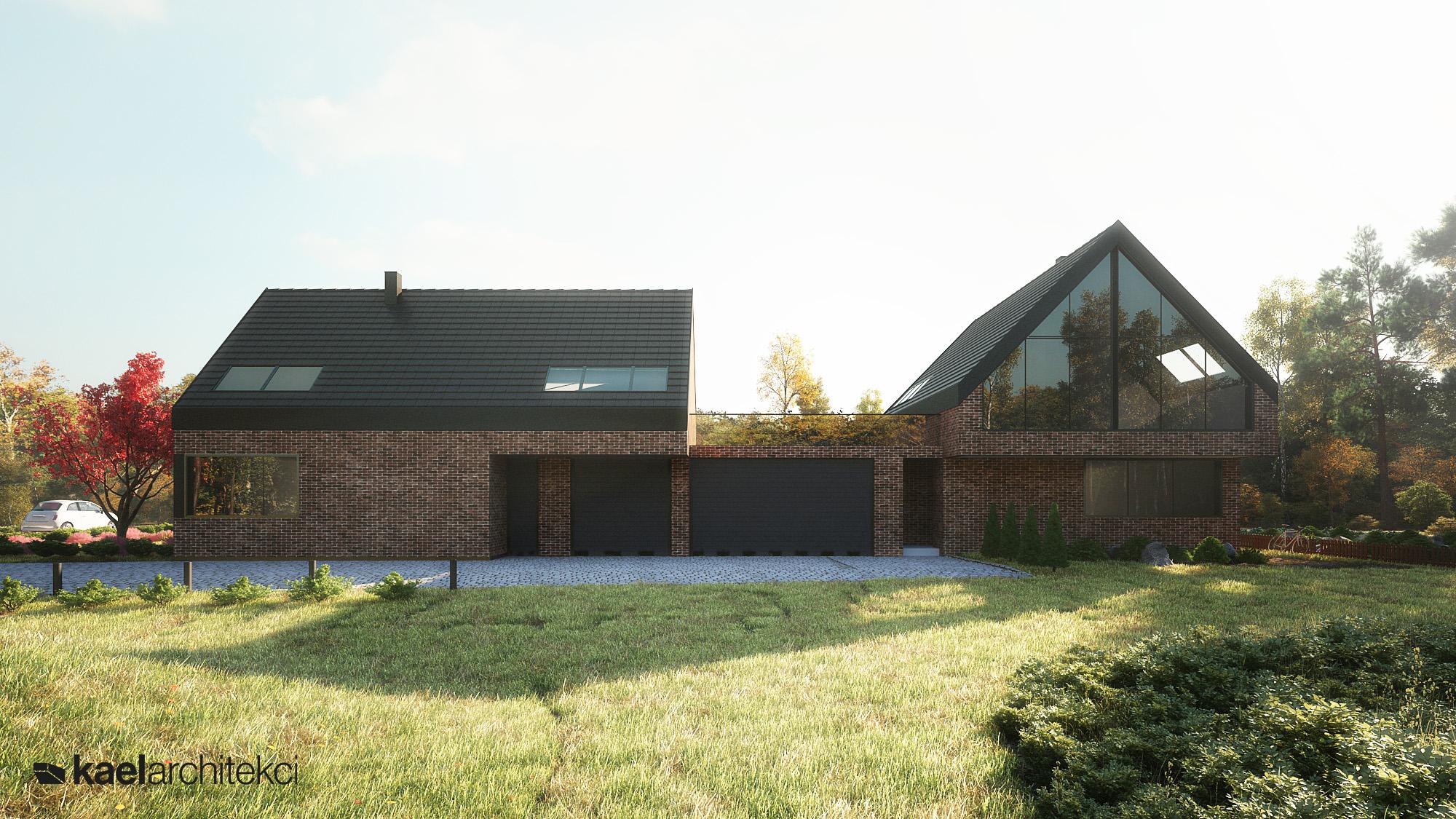 Dwuczęściowy dom jednorodzinny