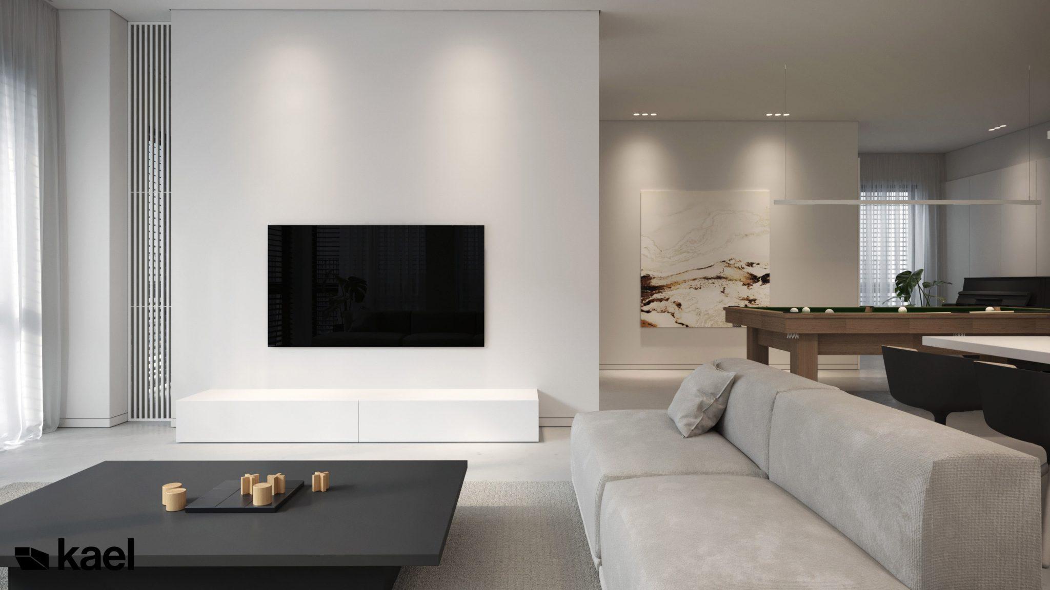 Przytulny, komfortowy salon w projekcie Wielicka