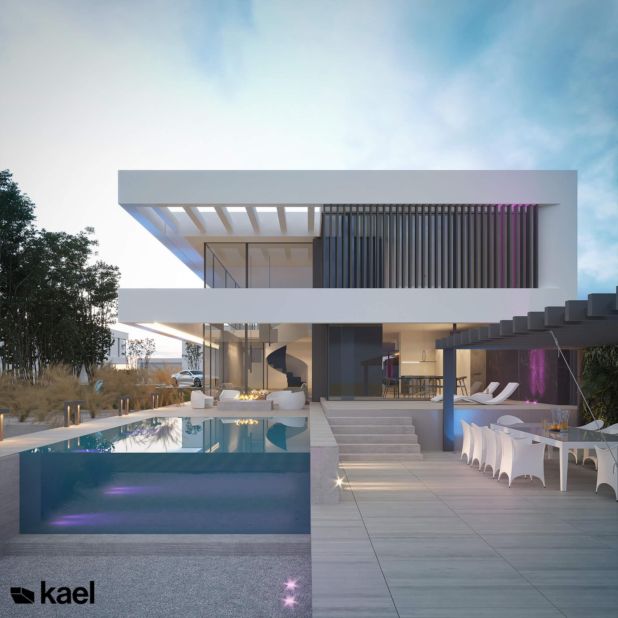 Dom z basenem infinity