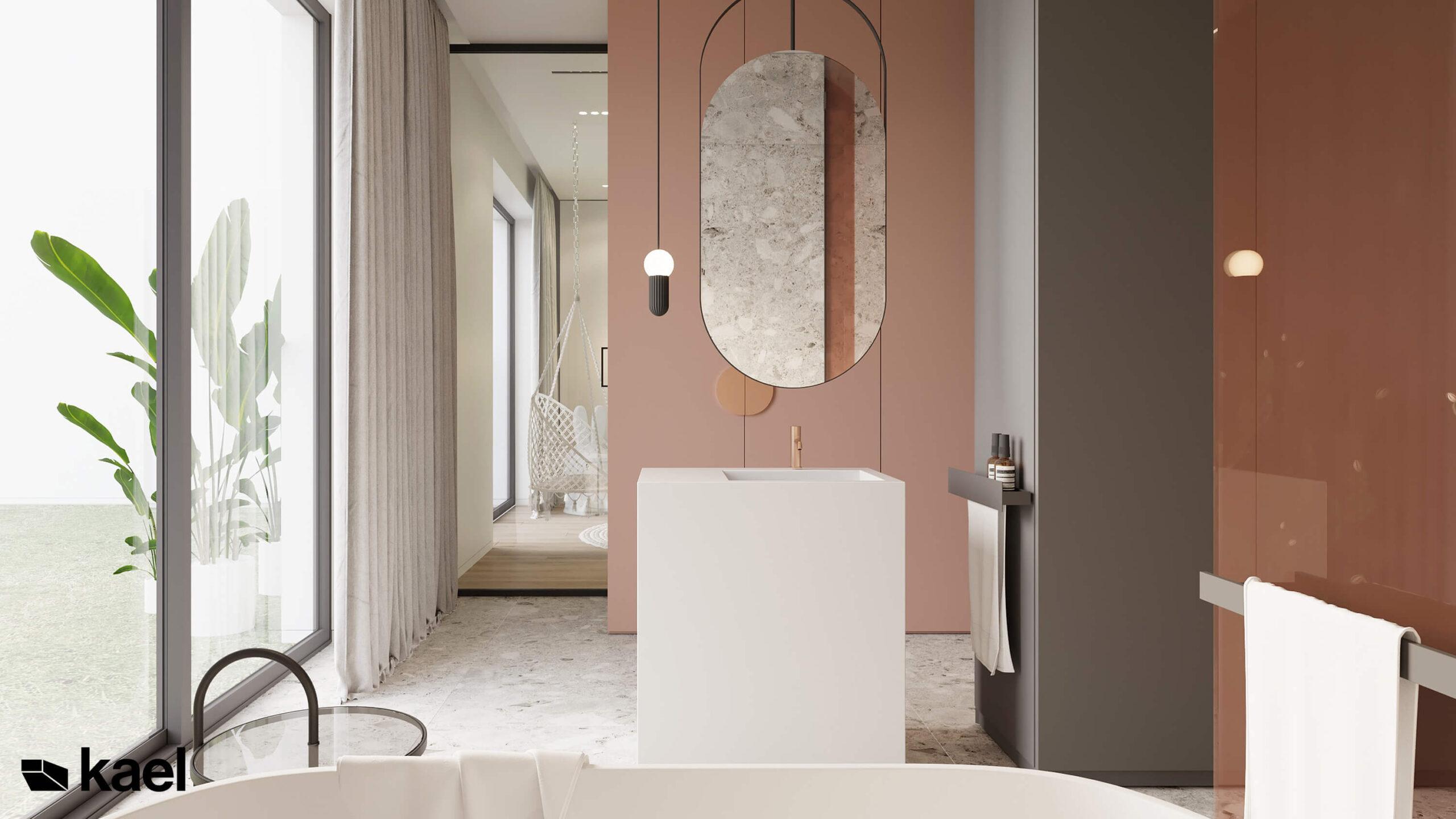 różowa łazienka