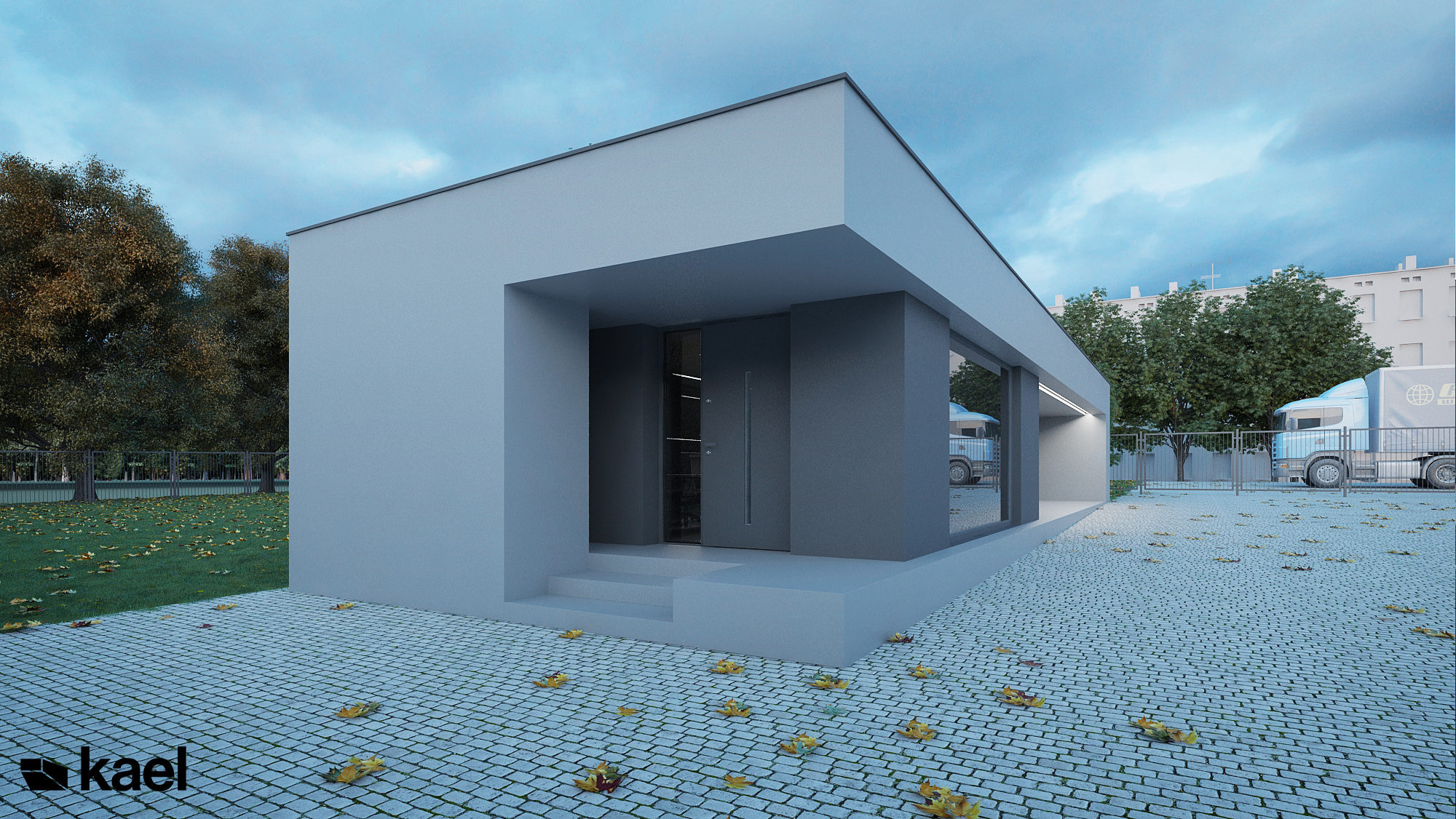 Projekt pawilonu biurowego Piaseczno
