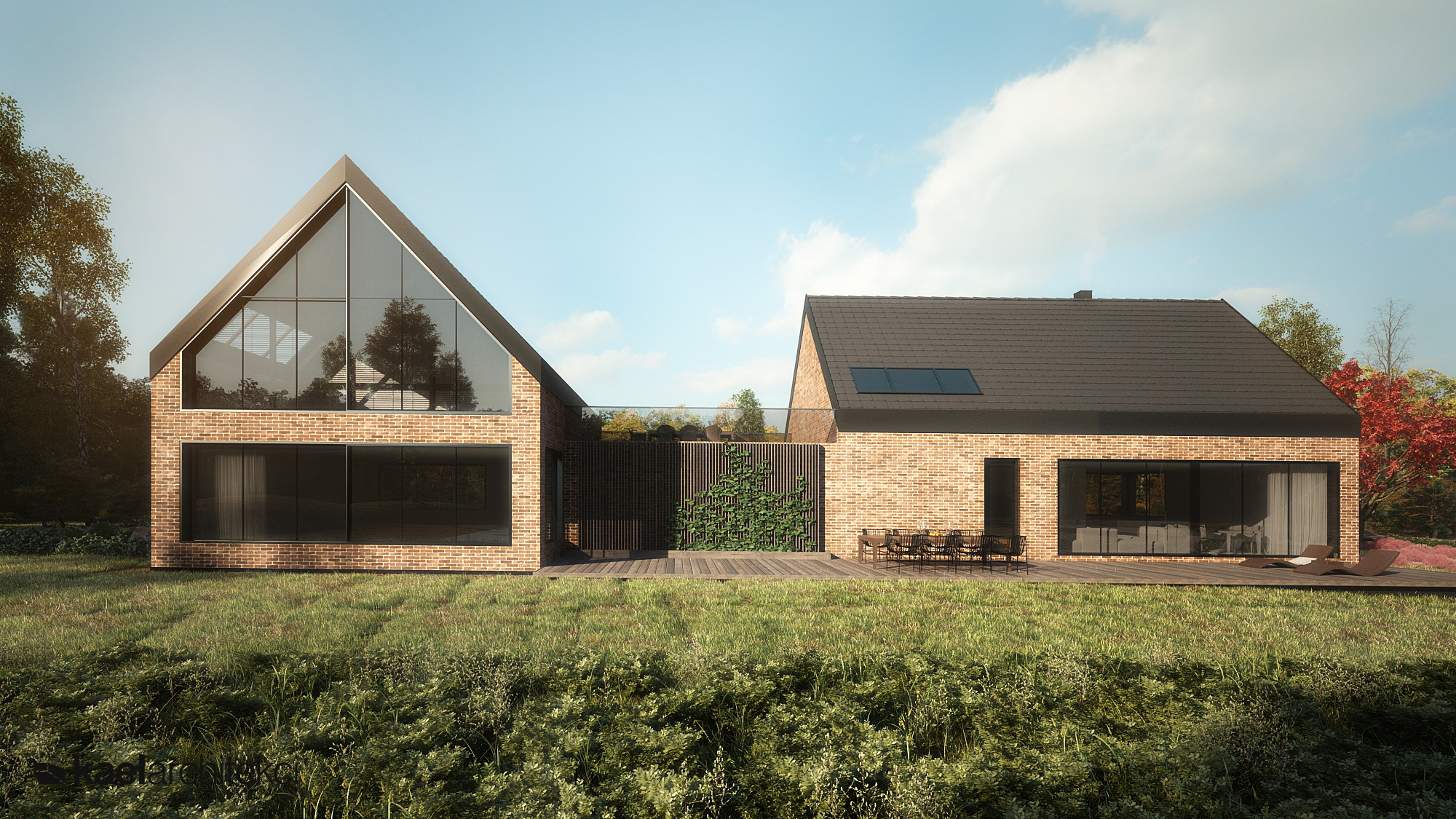 Dom jednorodzinny projektu pracowni KAEL Architekci
