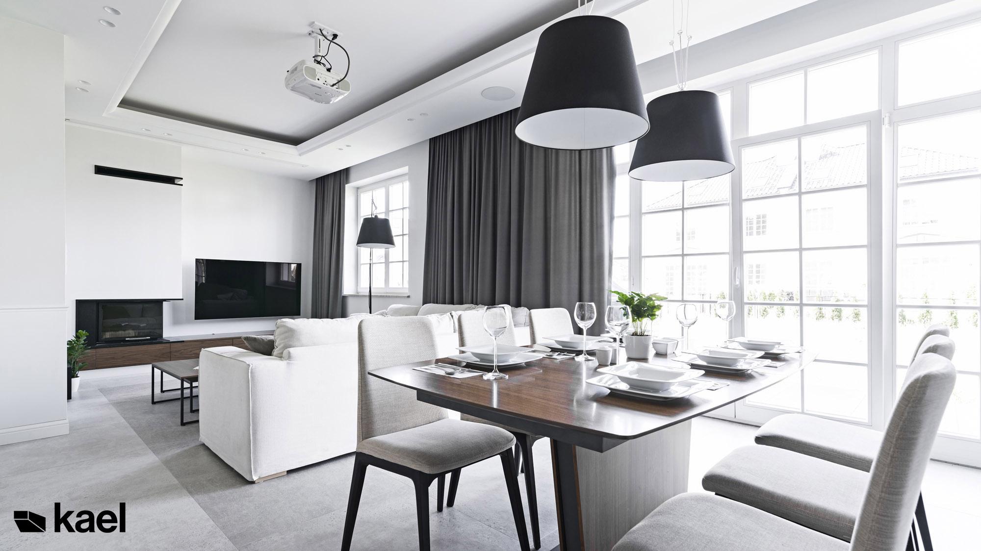 Salon z jadalnią - projekt wnętrza mieszkania
