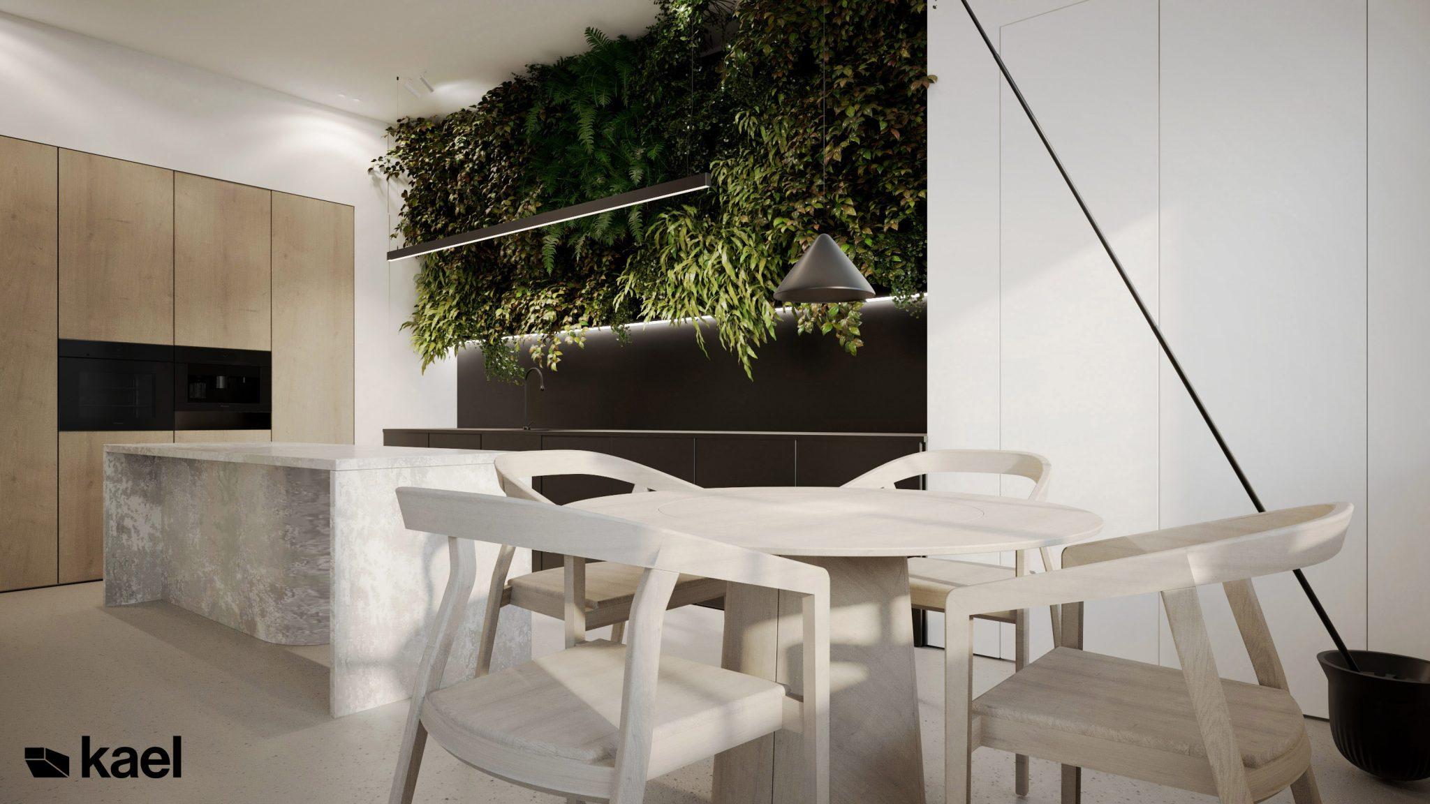 Jadalnia - Palestera - projekt wnętrza Kael