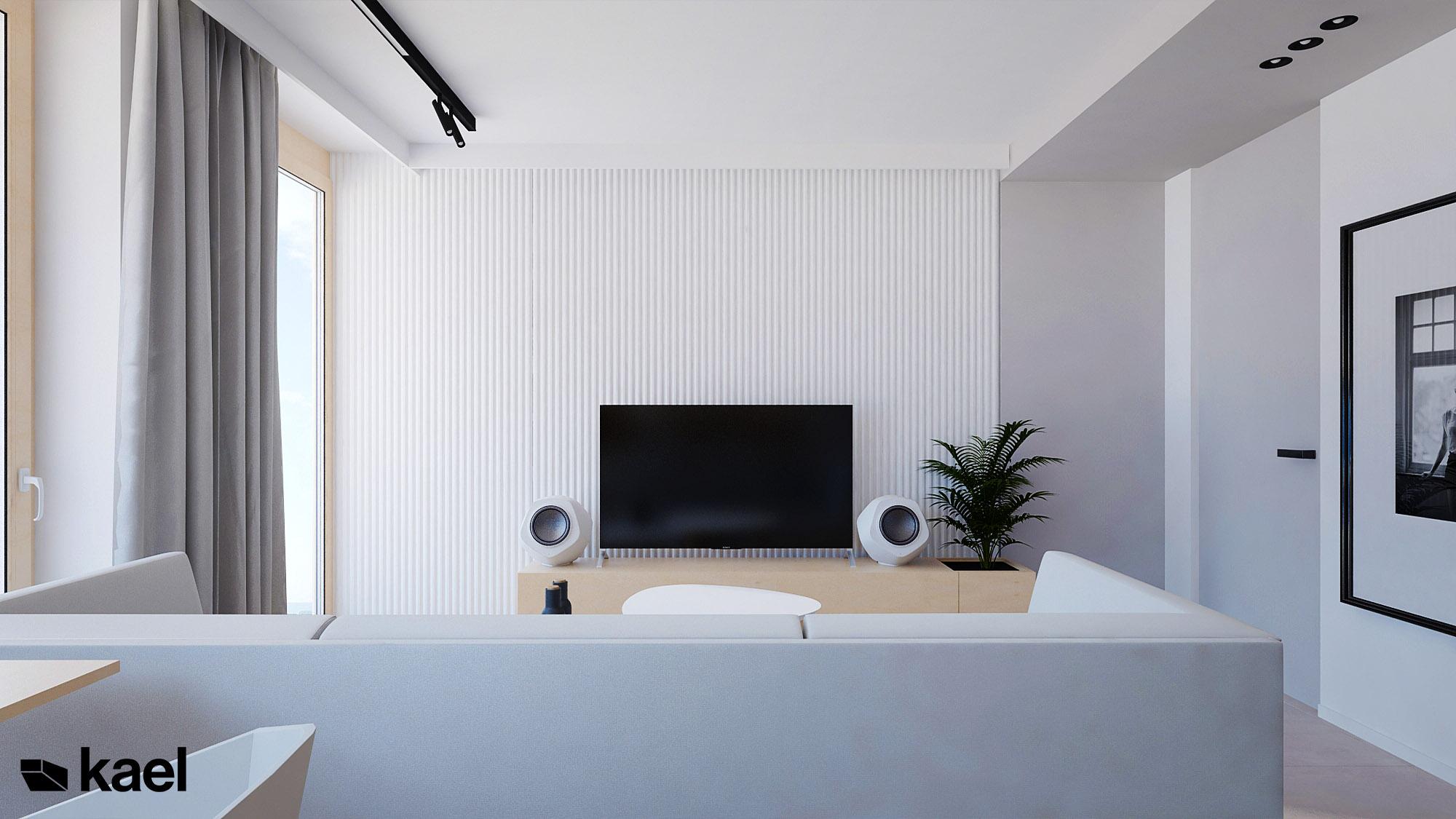 Sciana telewizyjna w salonie
