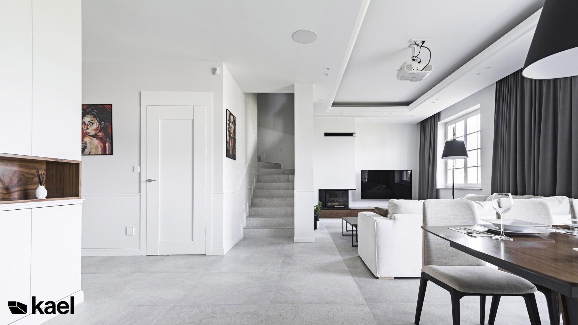 Aranżacja wnętrza domu - projekt Międzyborska