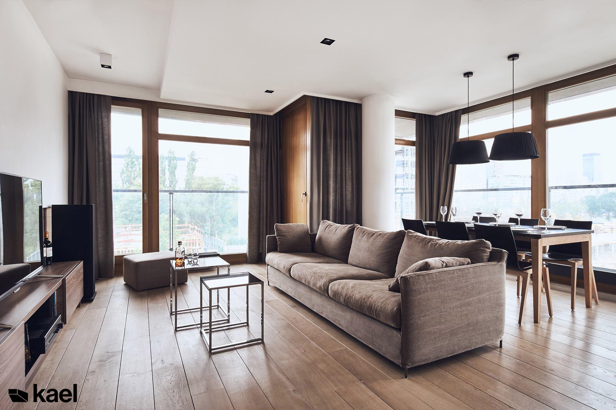 Salon w mieszkaniu na 19 dzielnicy