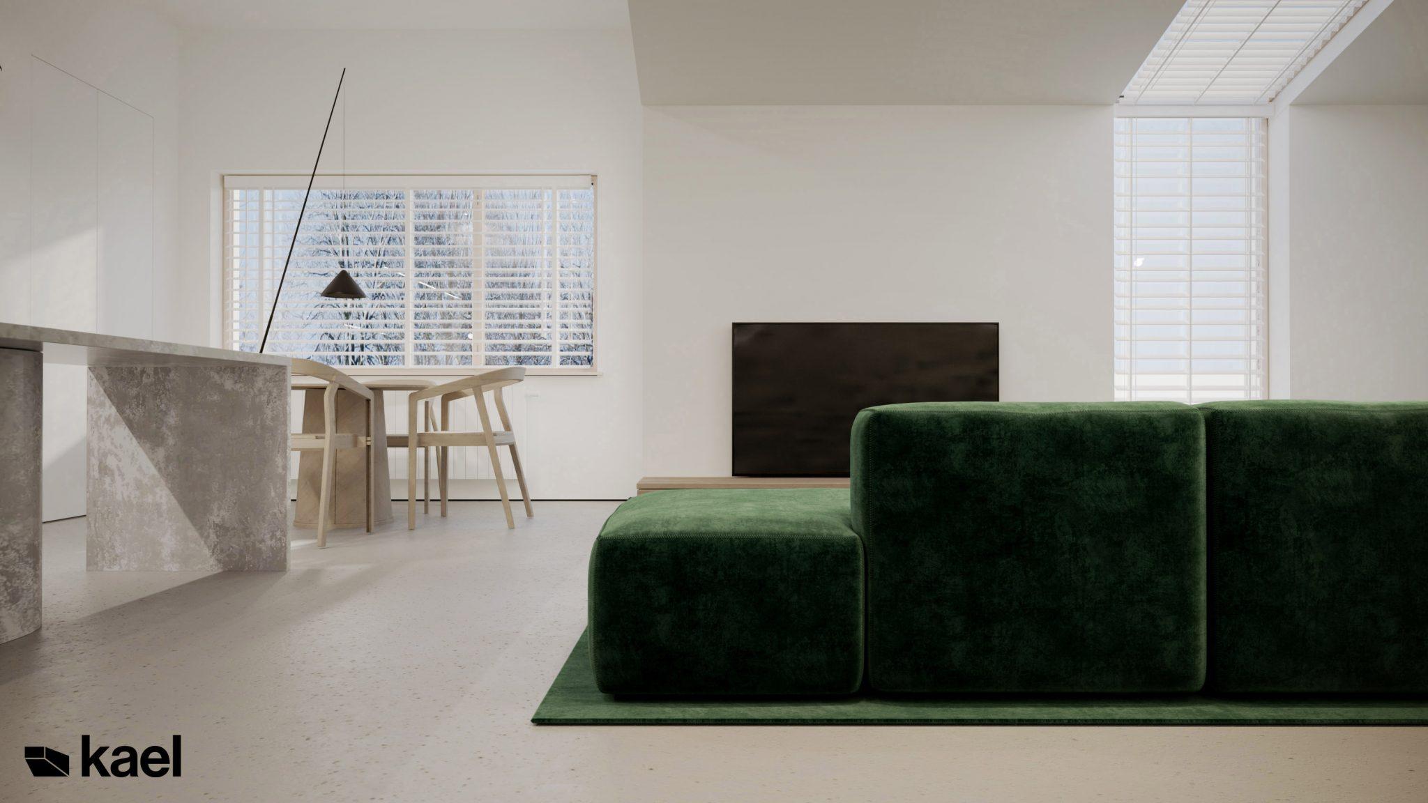 Salon - Palestera - projekt wnętrza Kael