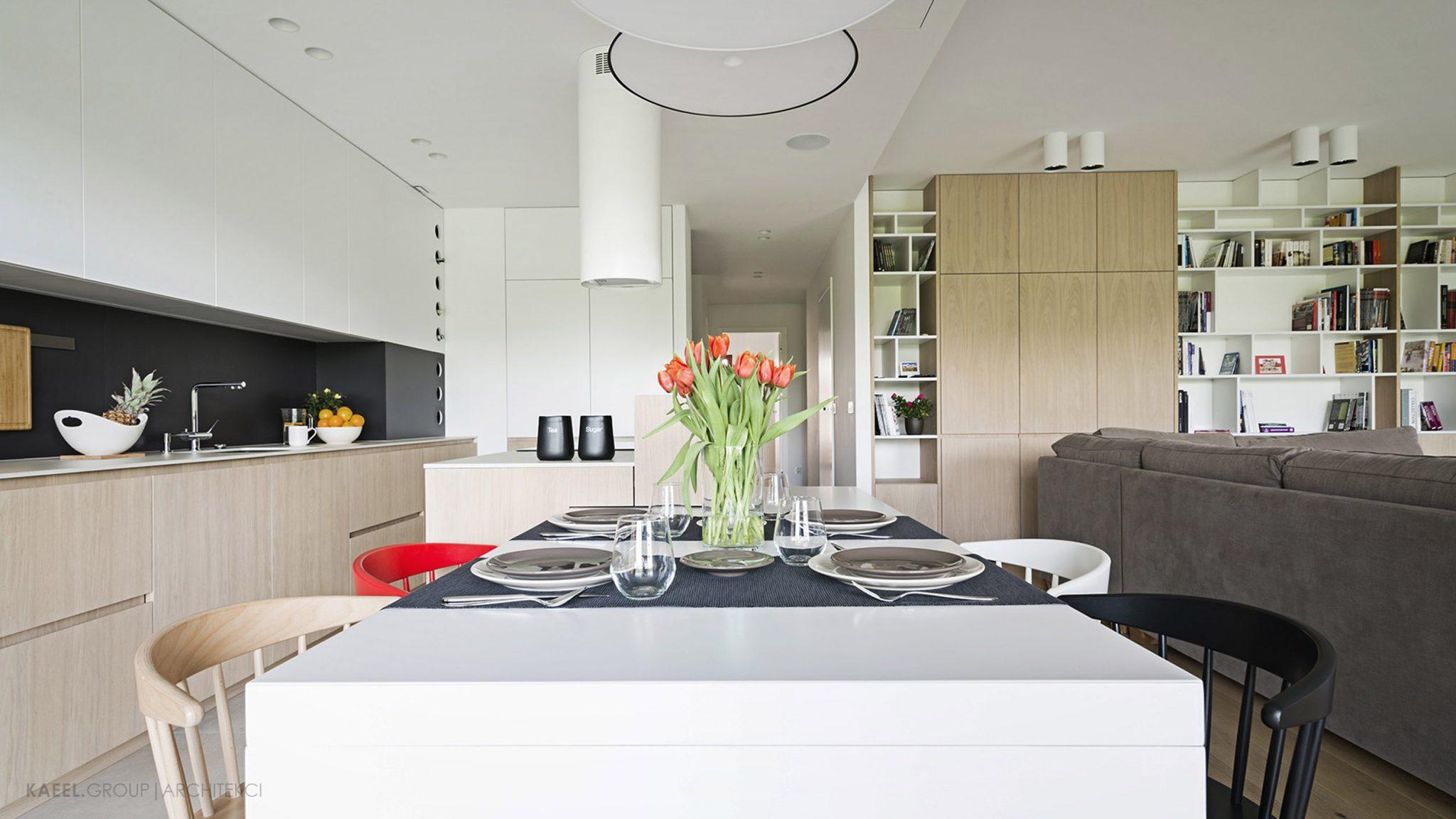 Jadalnia w projektowanym mieszkaniu