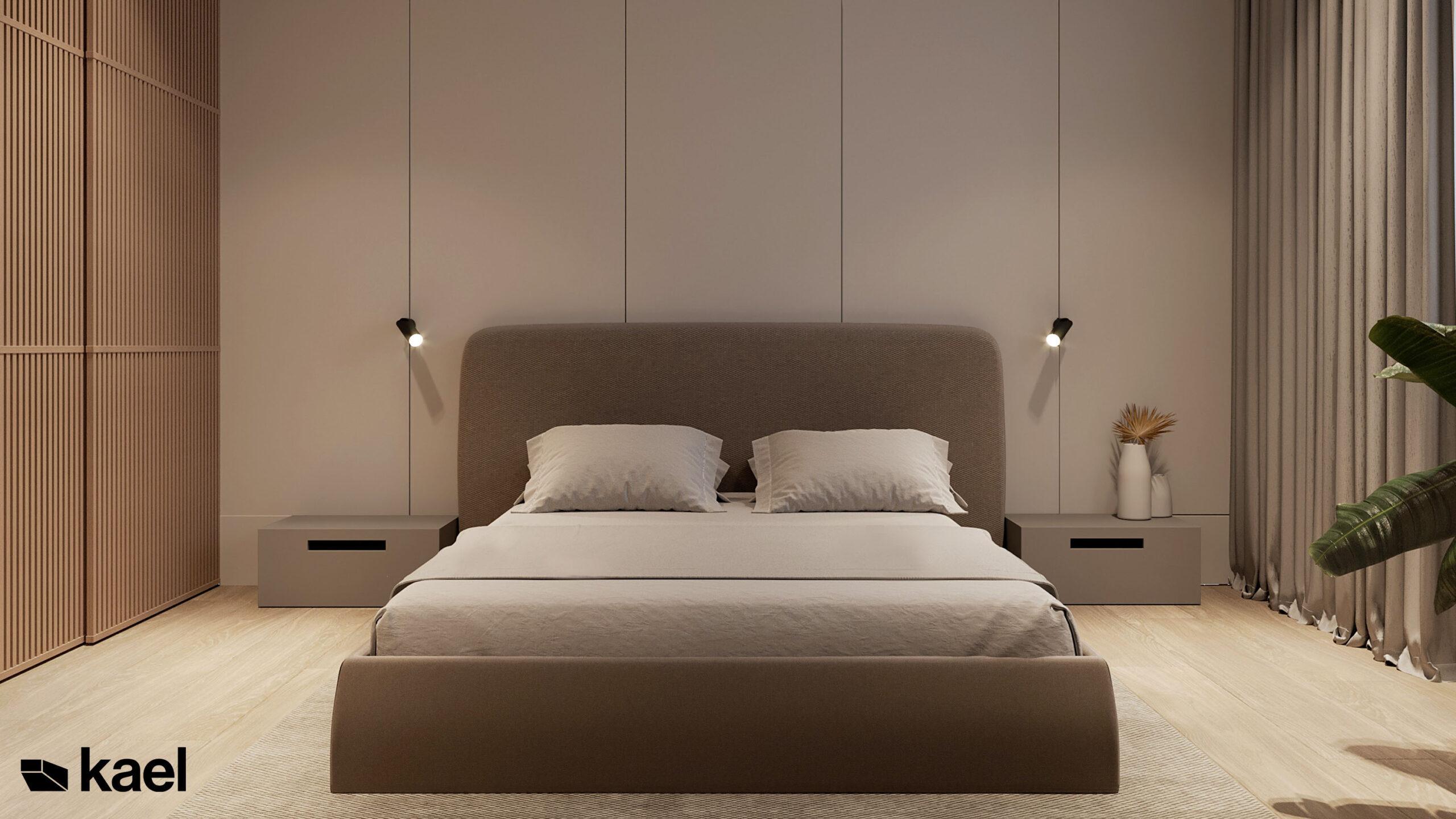 minimalistyczne łóżko