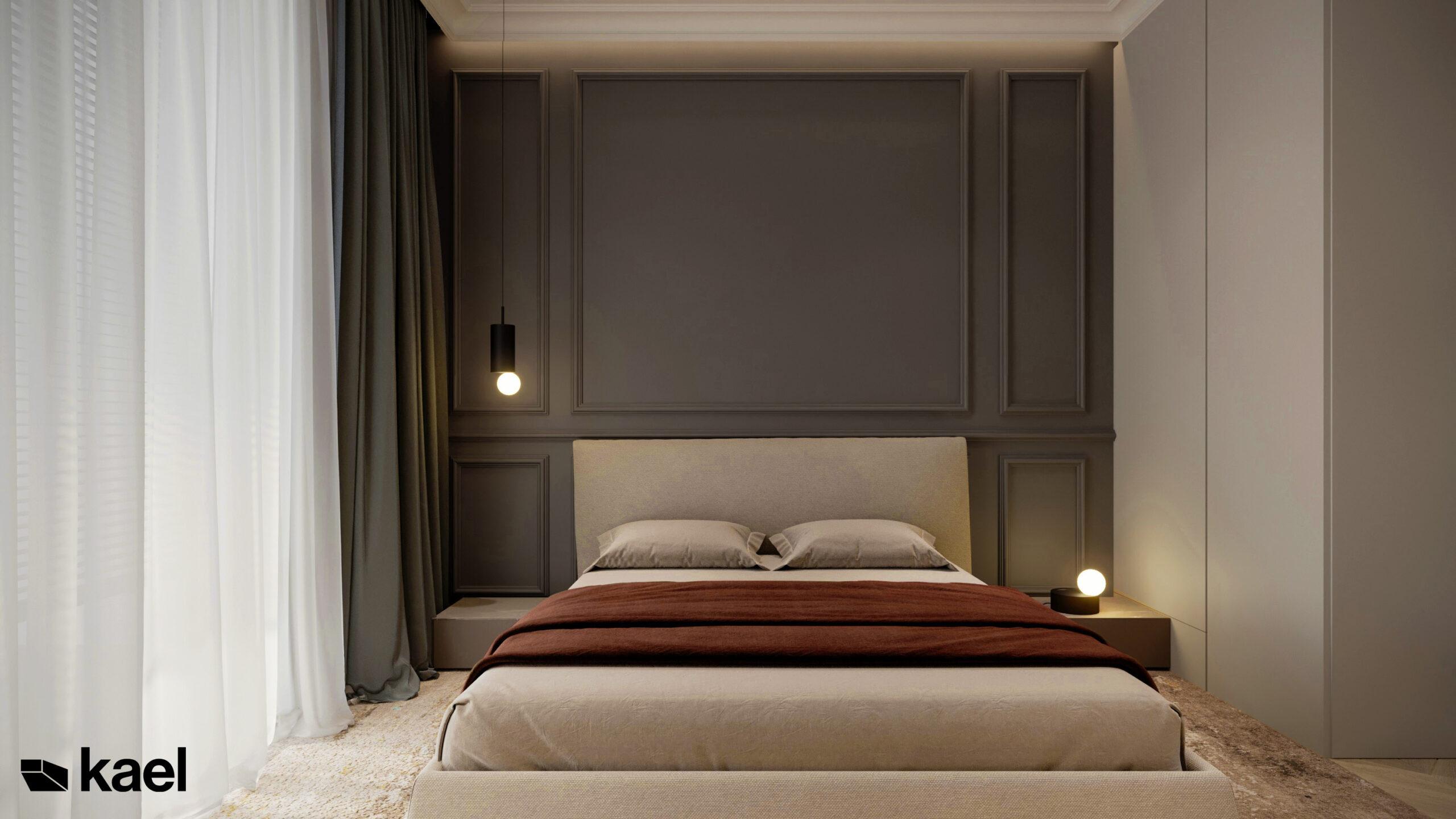 sztukateria w sypialni