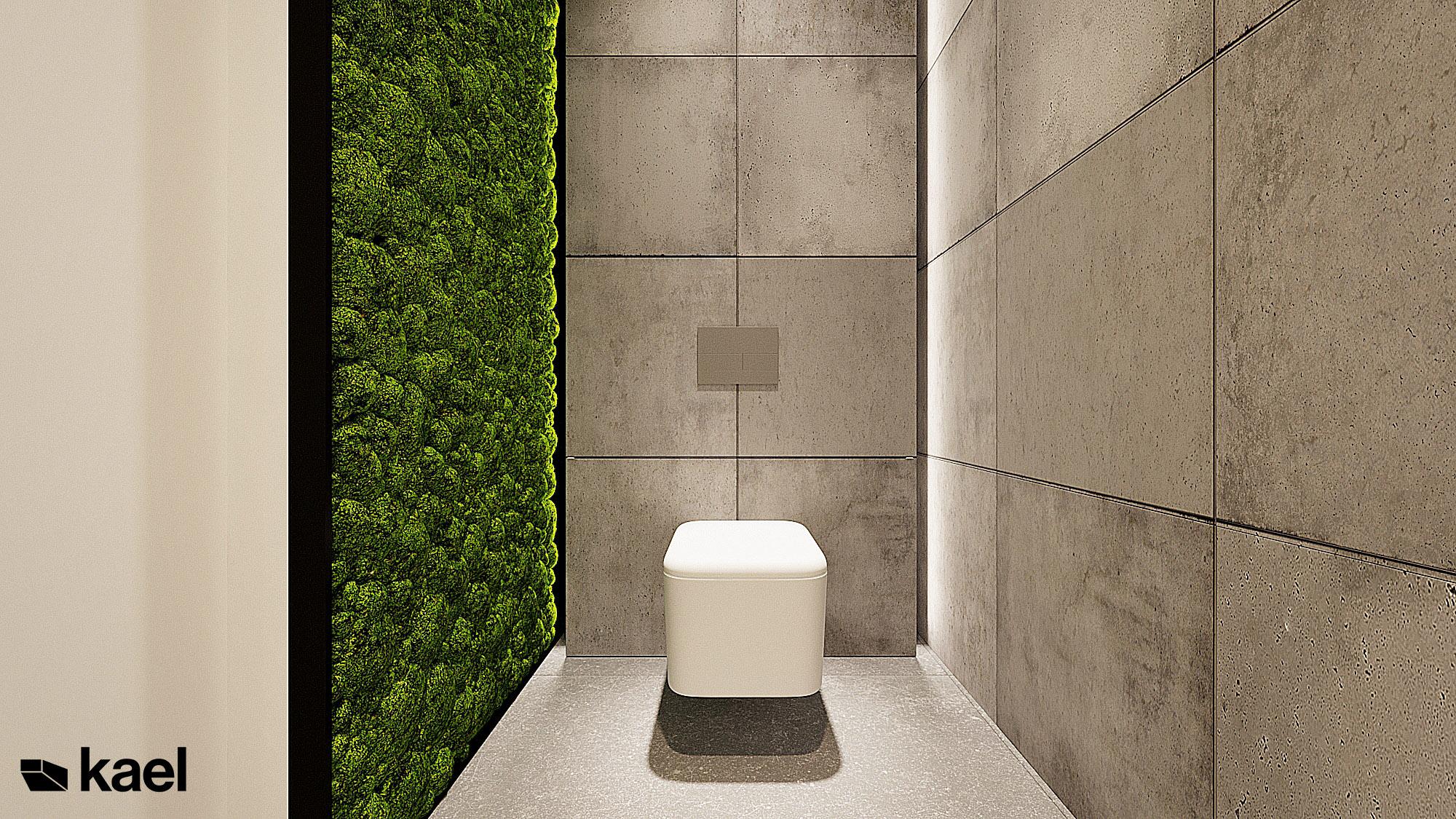 toaleta - Wachowska - projekt wnętrza domu jednorodzinnego - Kael Warszawa