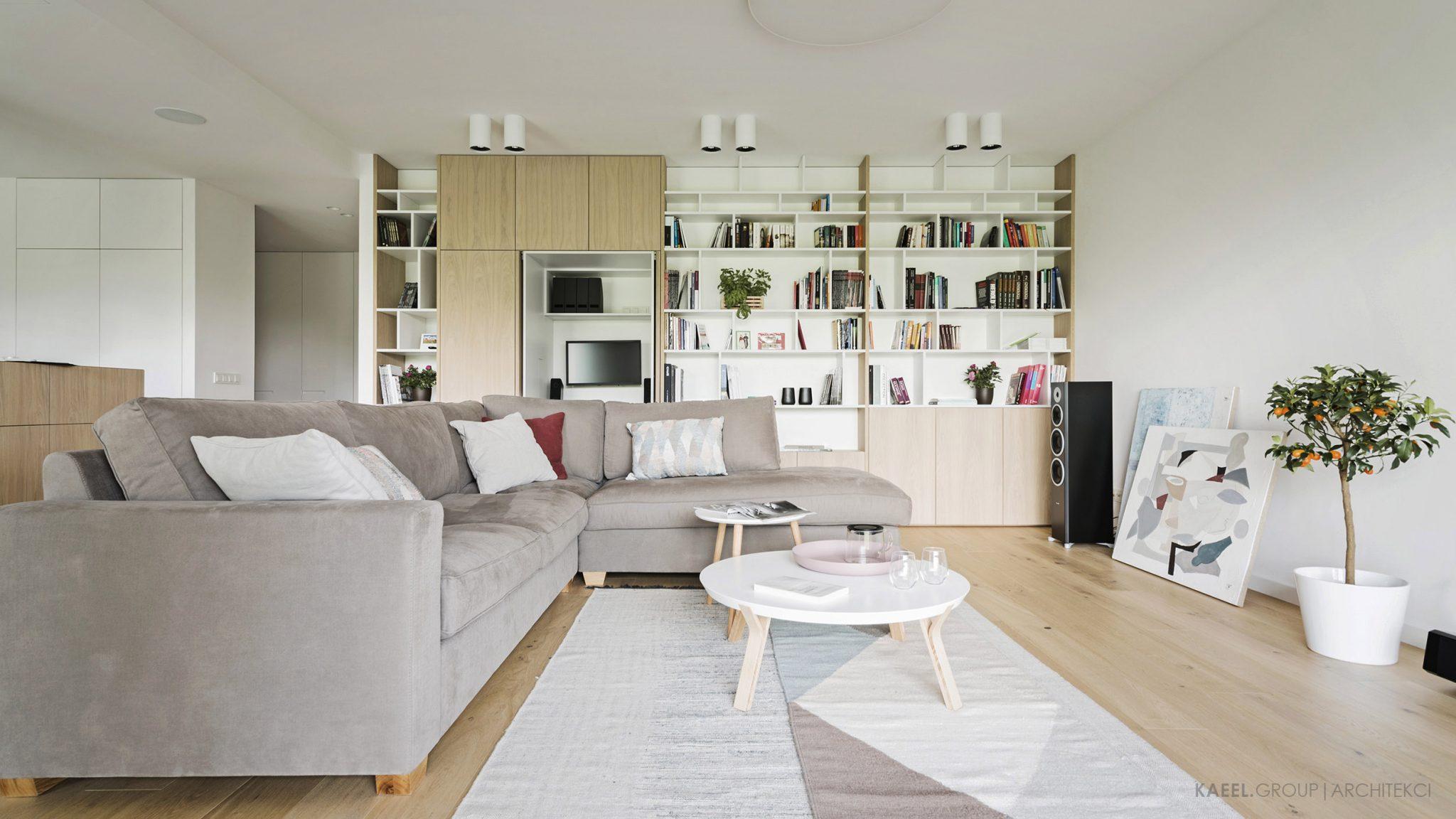 Projektowany mebel w salonie