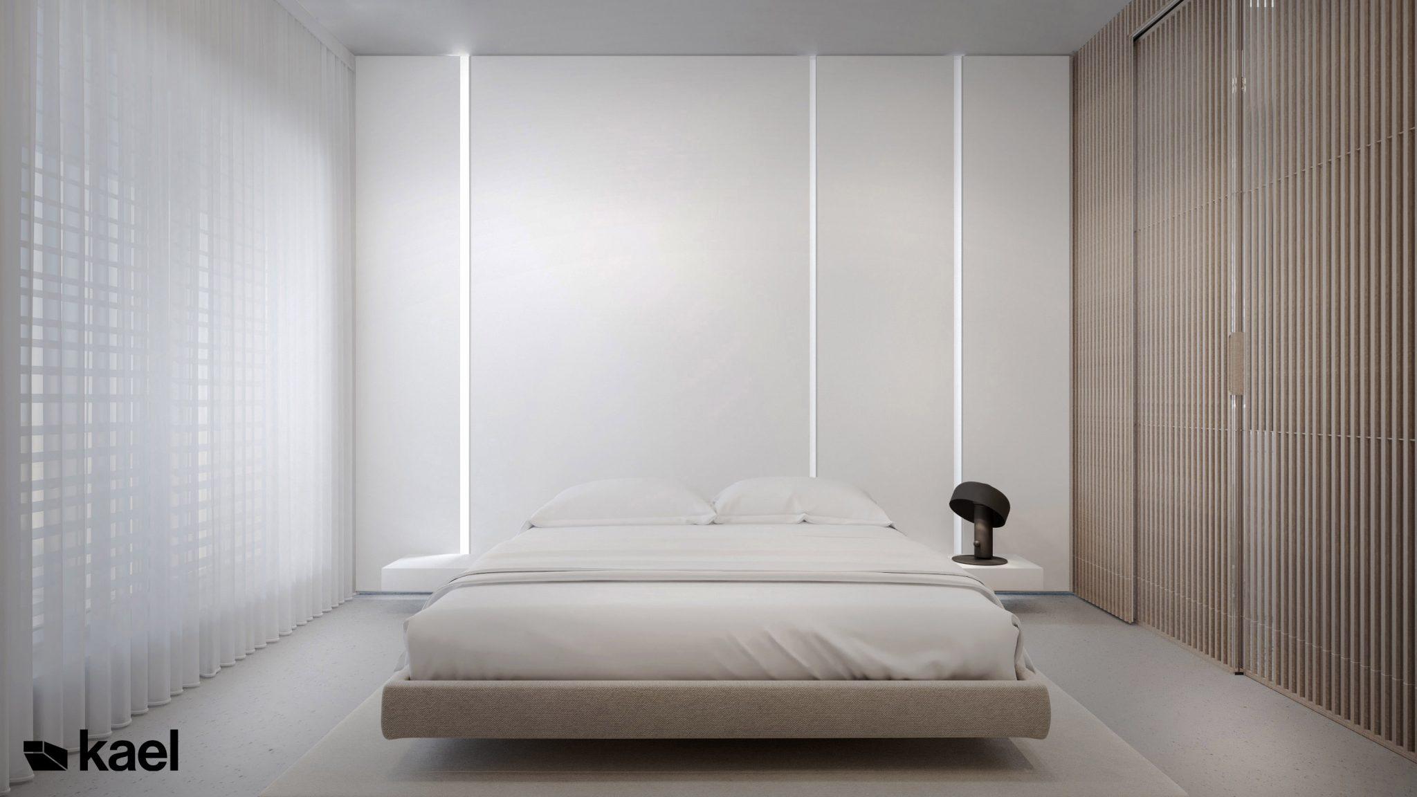 Sypialnia - Palestera - projekt wnętrza Kael