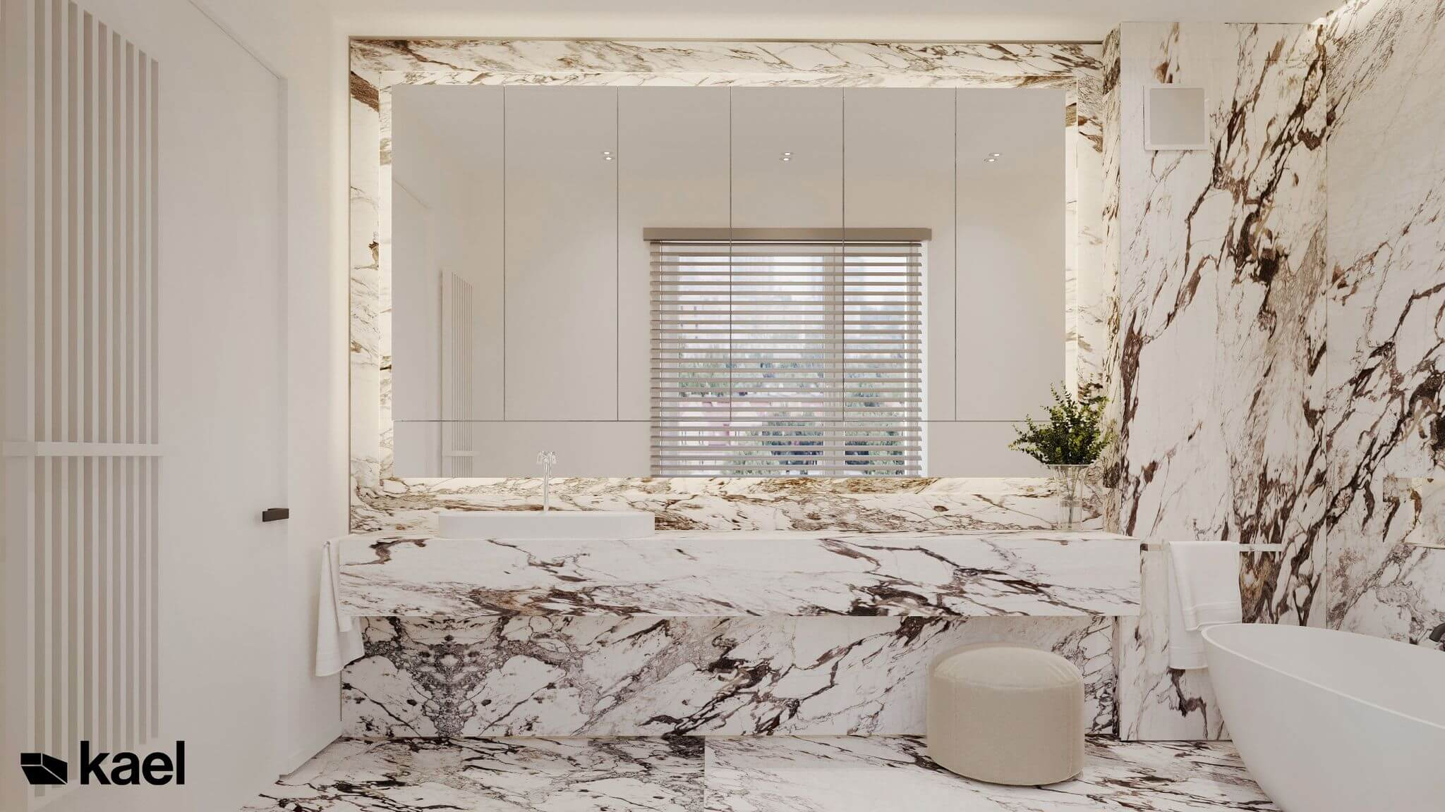 duże lustro w łazience