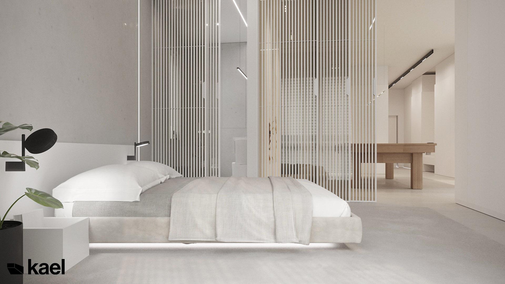Sypialnia projekt Wielicka Kael Architekci