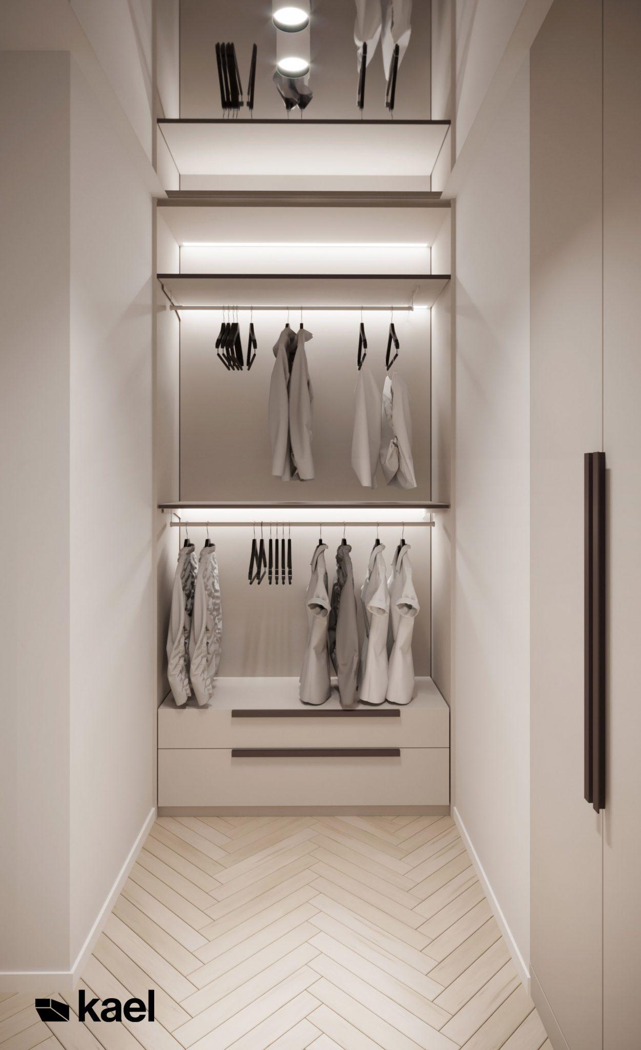 Garderoba - projekt Figiel