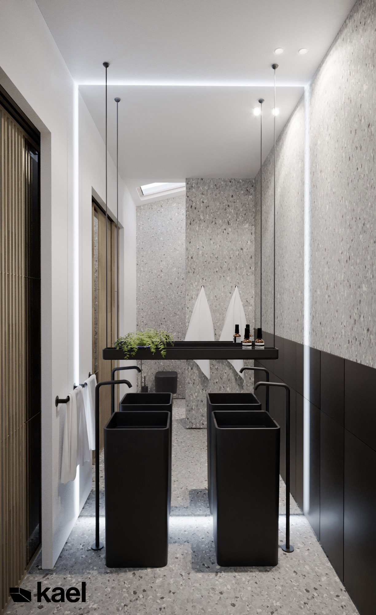 Łazienka - Palestera - projekt wnętrza Kael