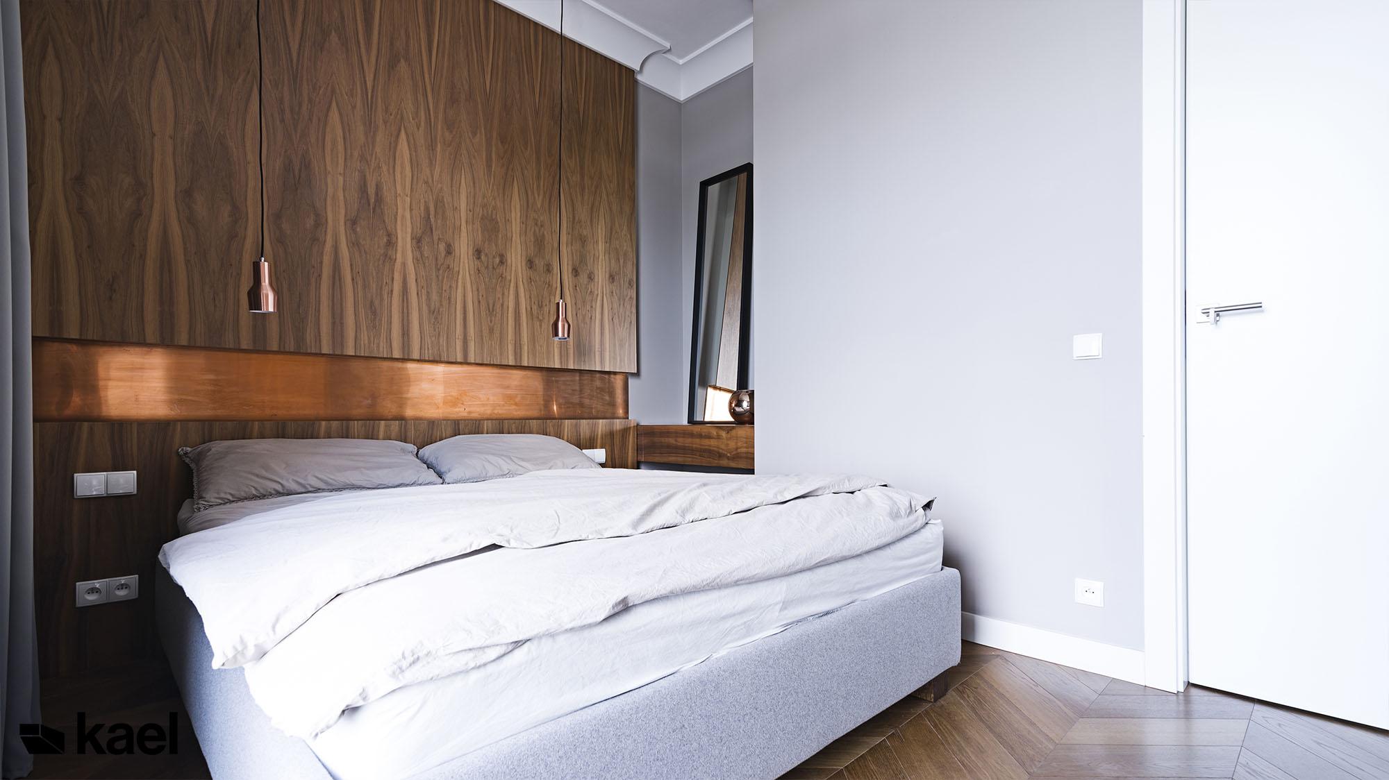 Projekt sypialni z łóżkiem NAP