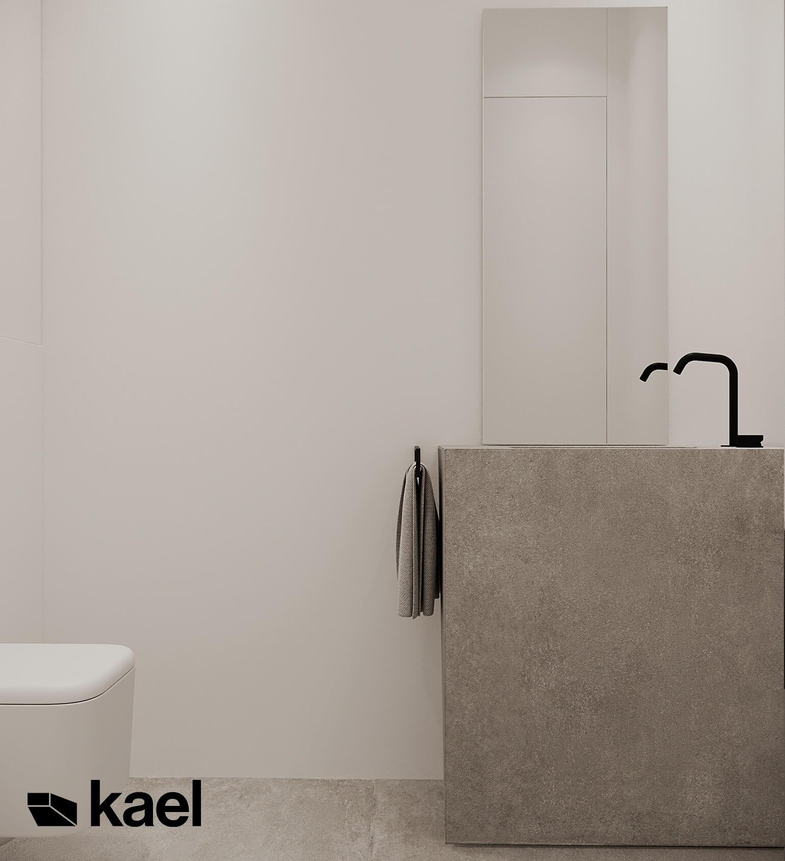 minimalistyczna toaleta