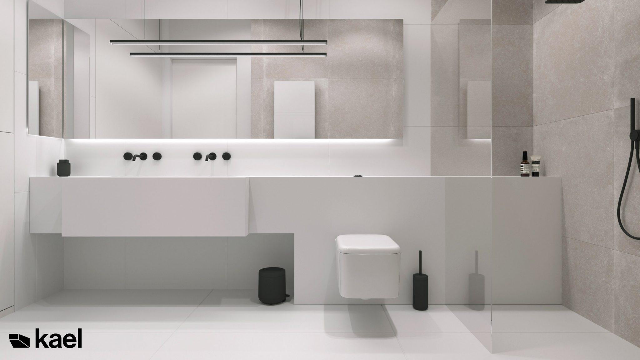 Kael łazienka w projekcie Wielicka