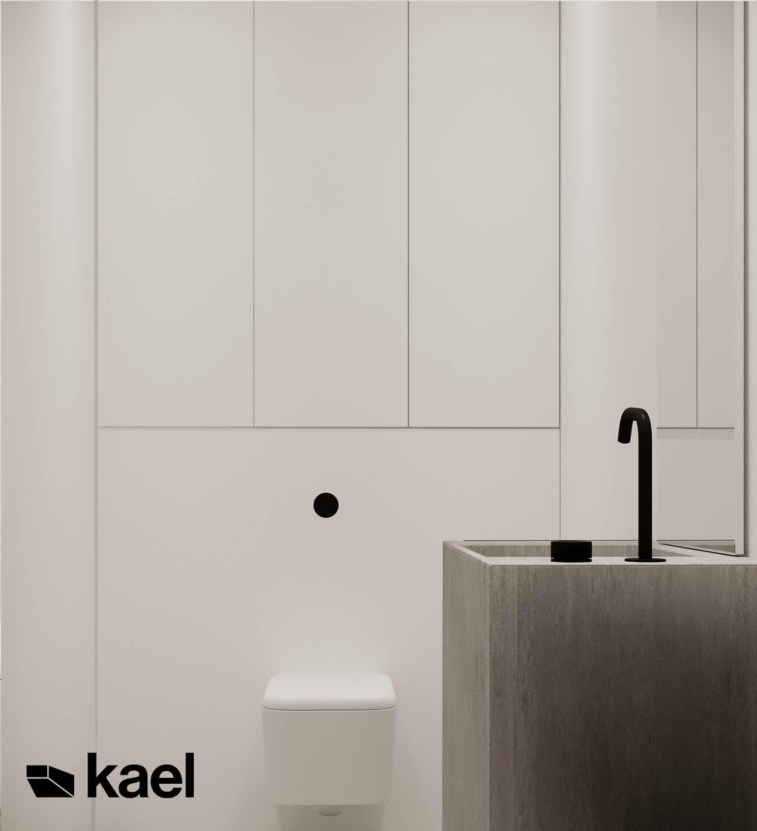 widok na lustro w toalecie