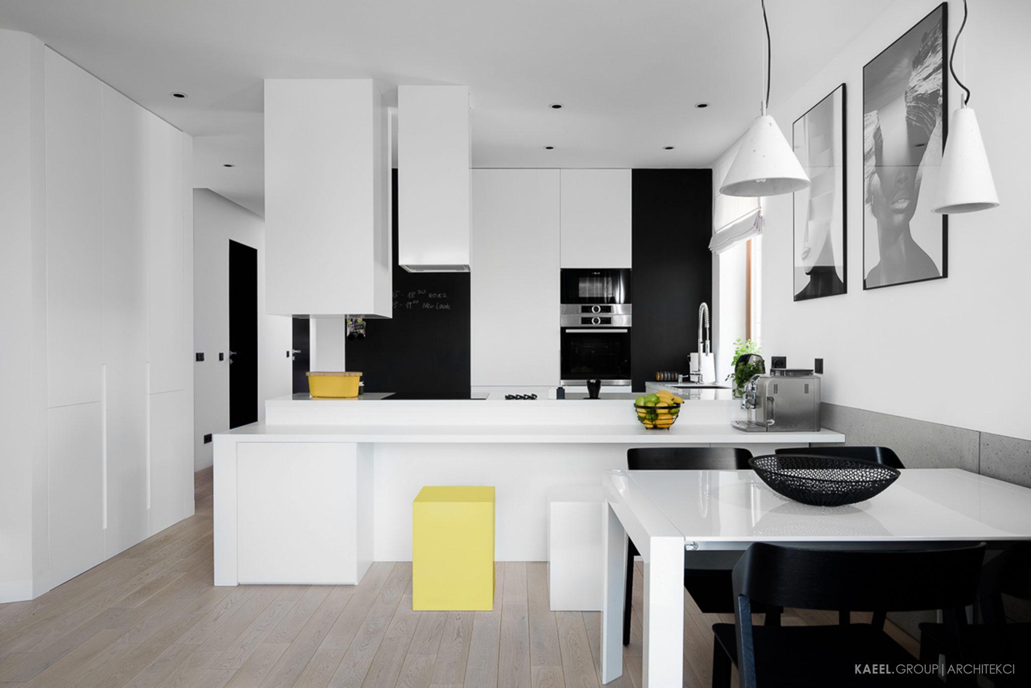 Kubistyczna kuchnia w mieszkaniu