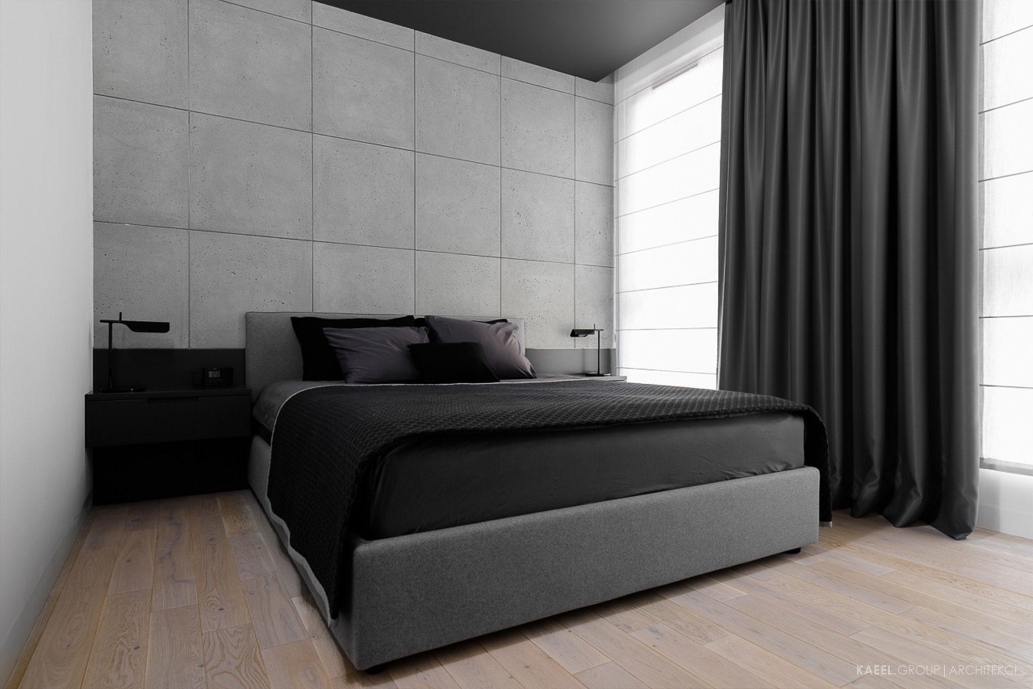 Ciemny sufit w sypialni
