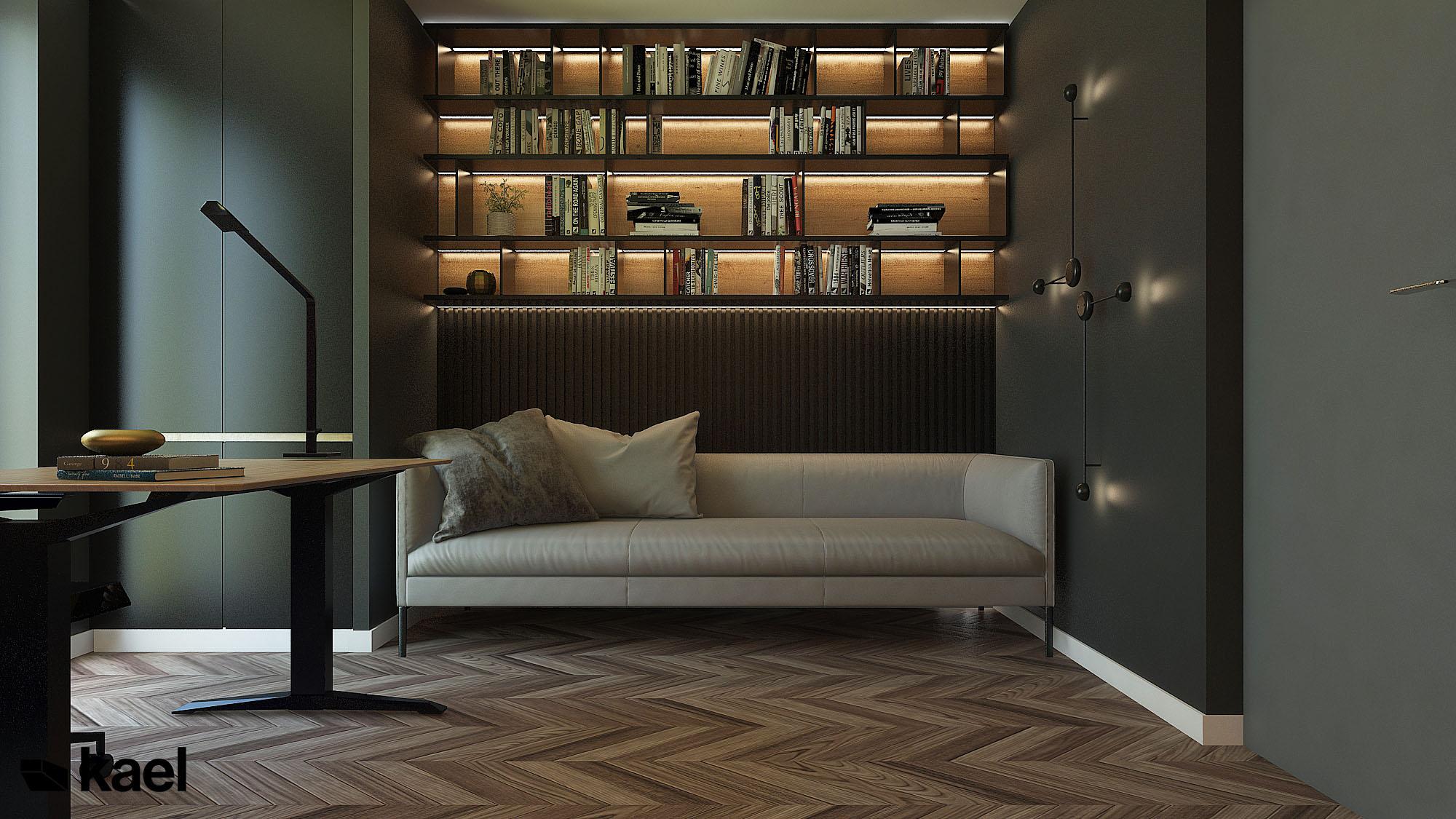 Sofa w gabinecie