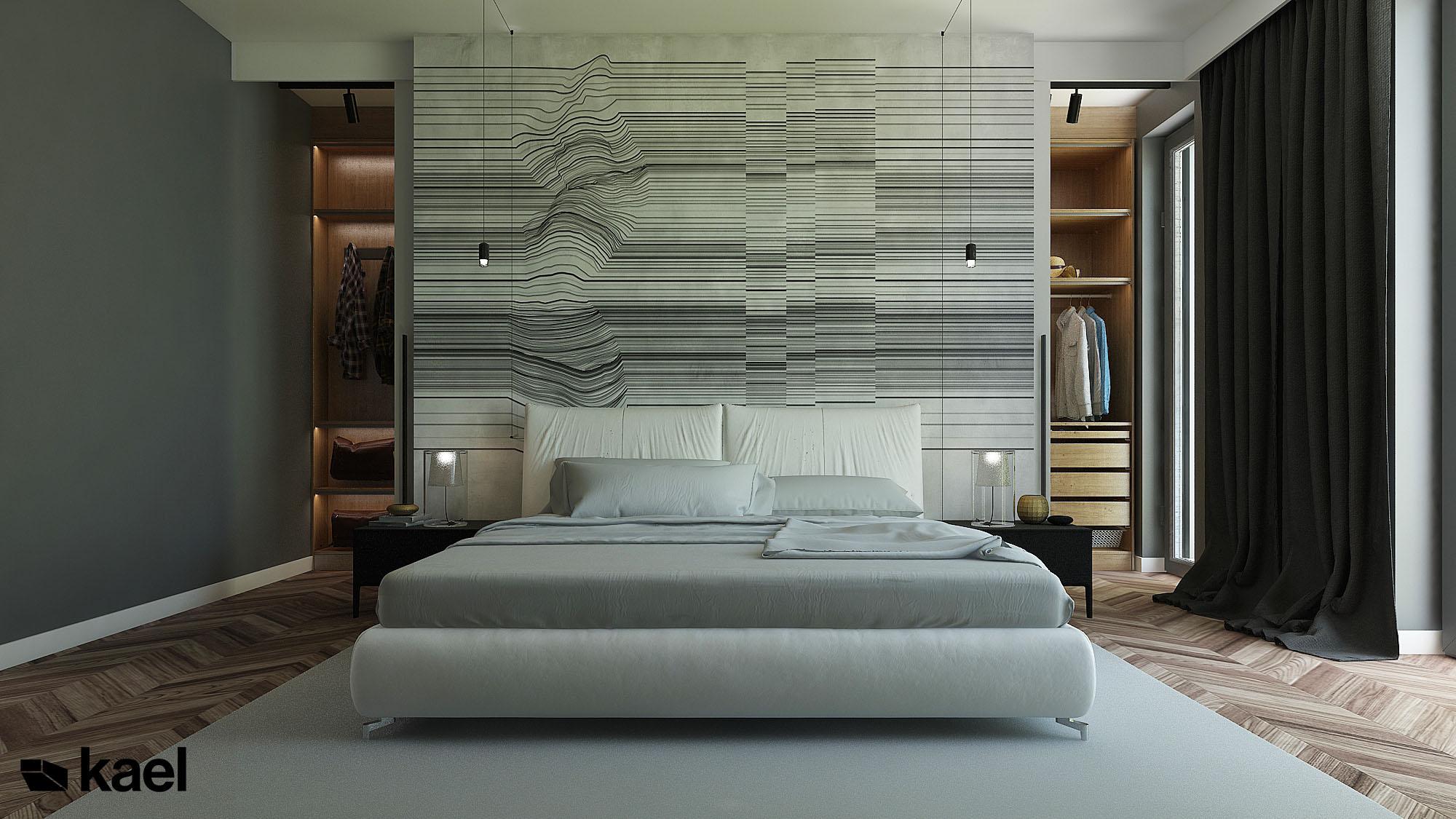 Tapeta Glamorra w sypialni