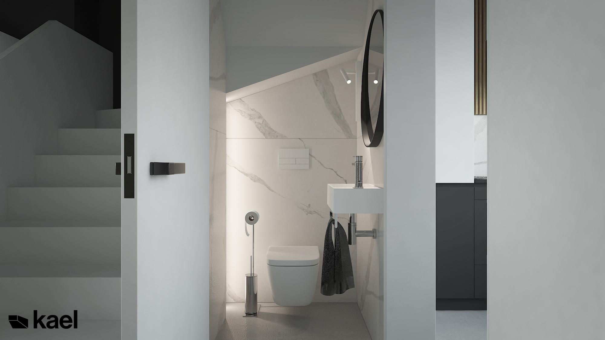 Minimalistyczny wc