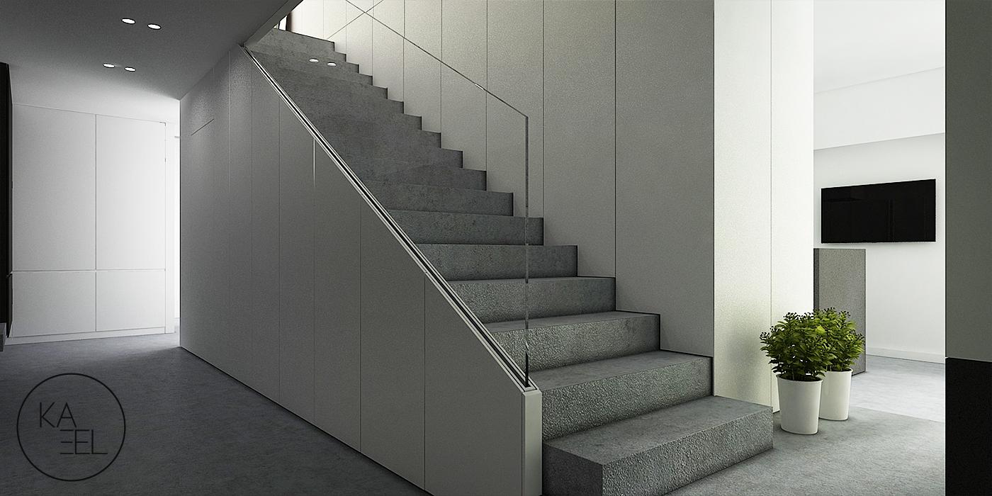 Betonowo schody Q-reling