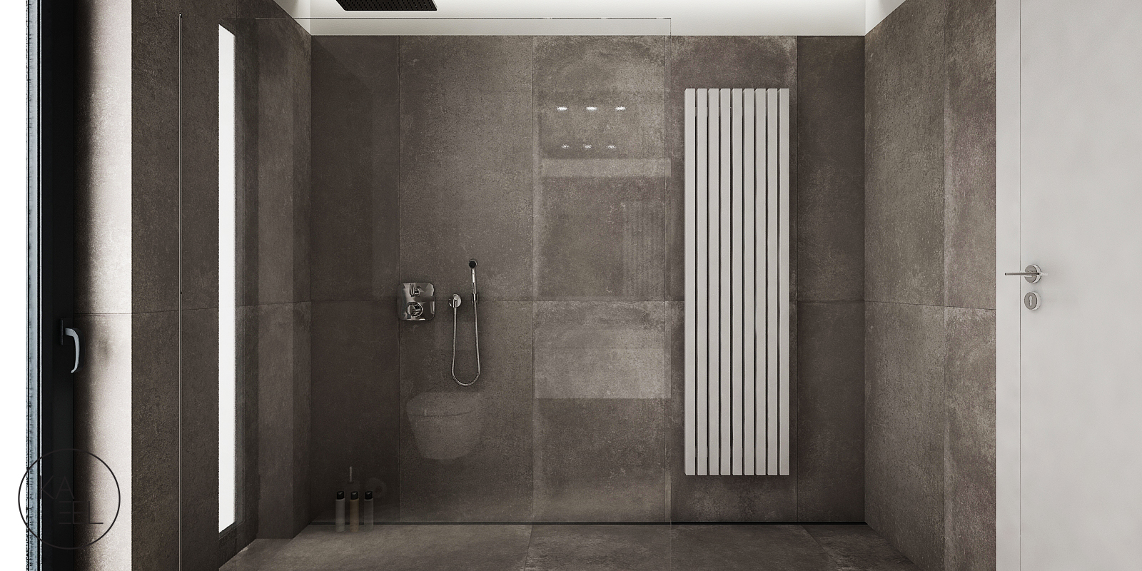 Prysznic typu walk-in