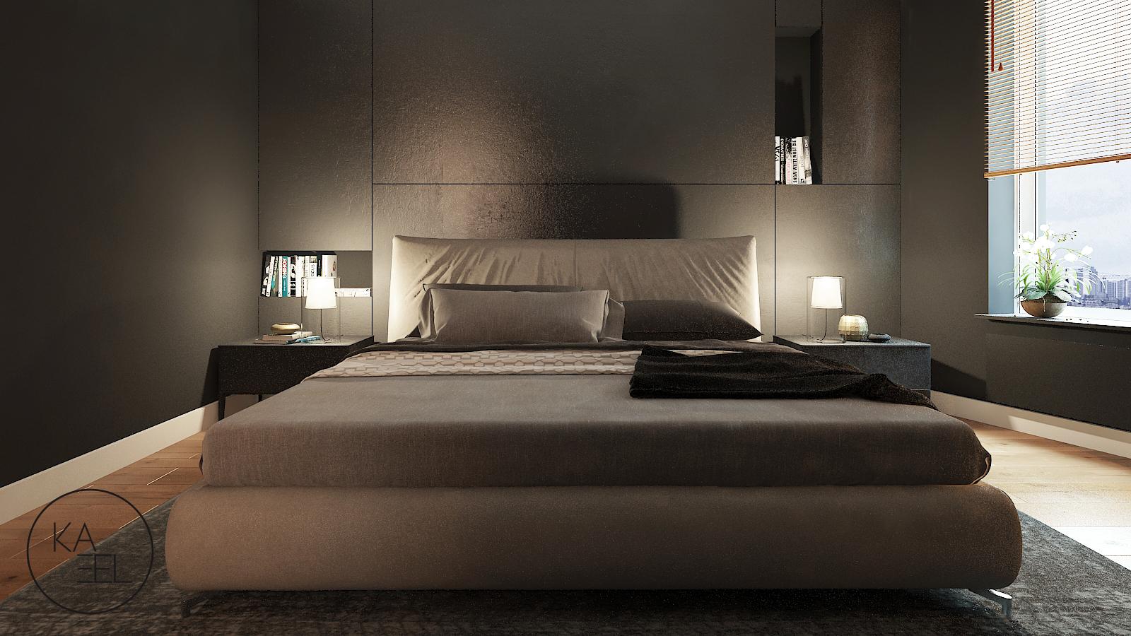 Projektowana ściana w sypialni