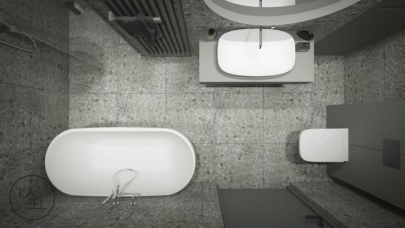 Łazienka z płytek lastryco