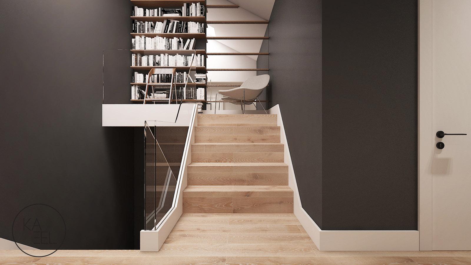 Półpiętro z książkami