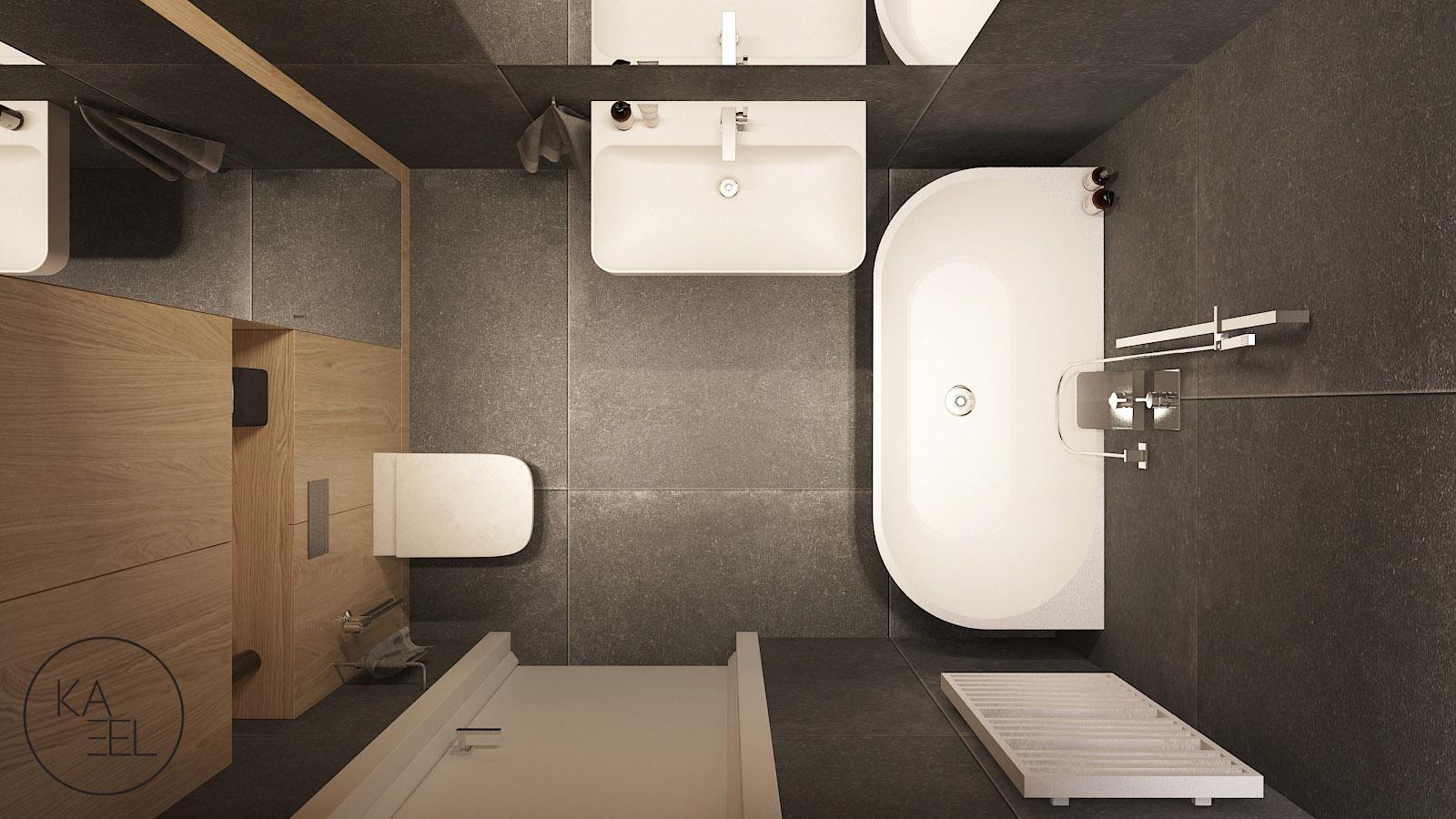 Łazienka z wanną - projekt Mozaika