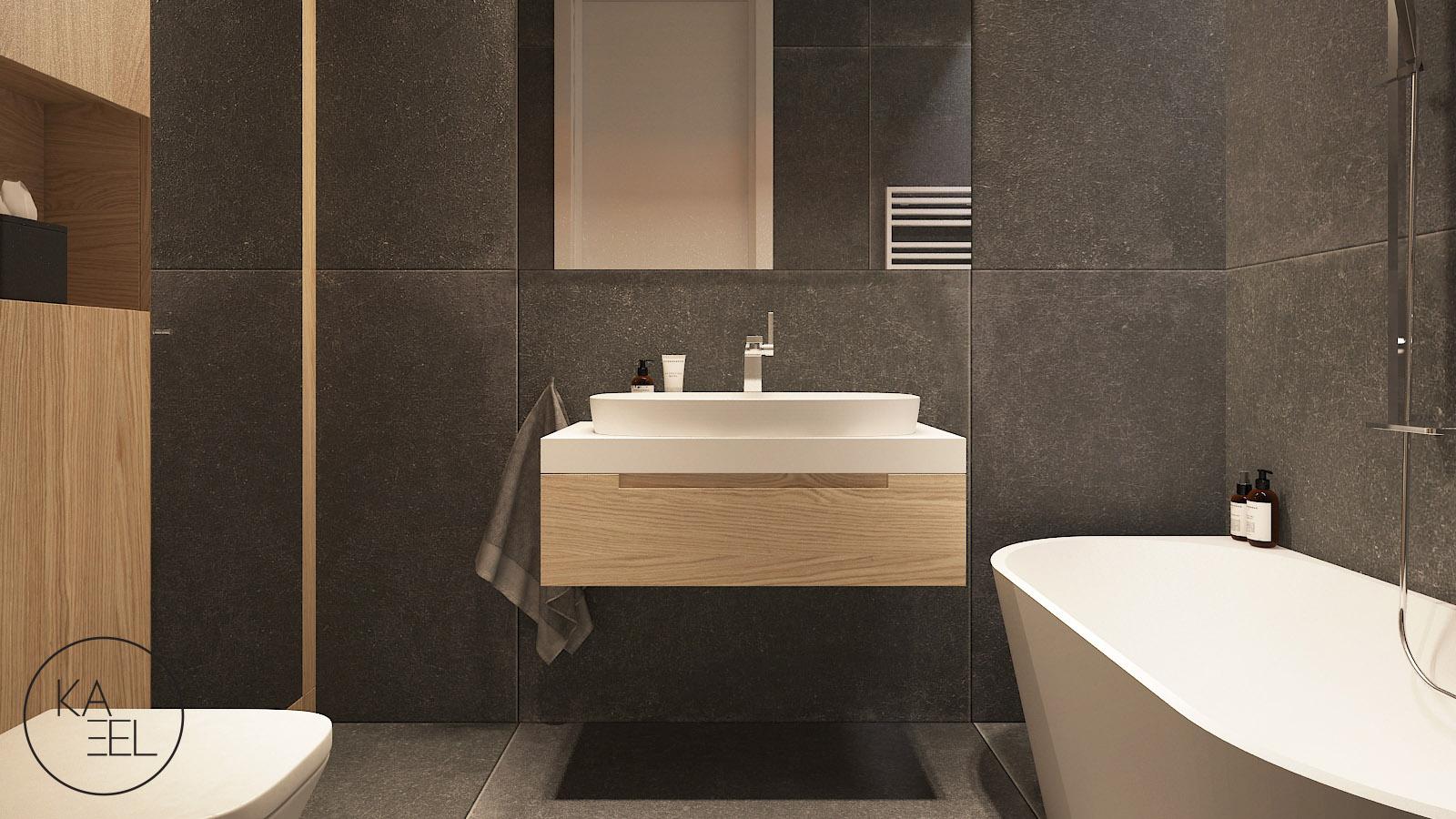 Wolnostojąca umywalka w łazience
