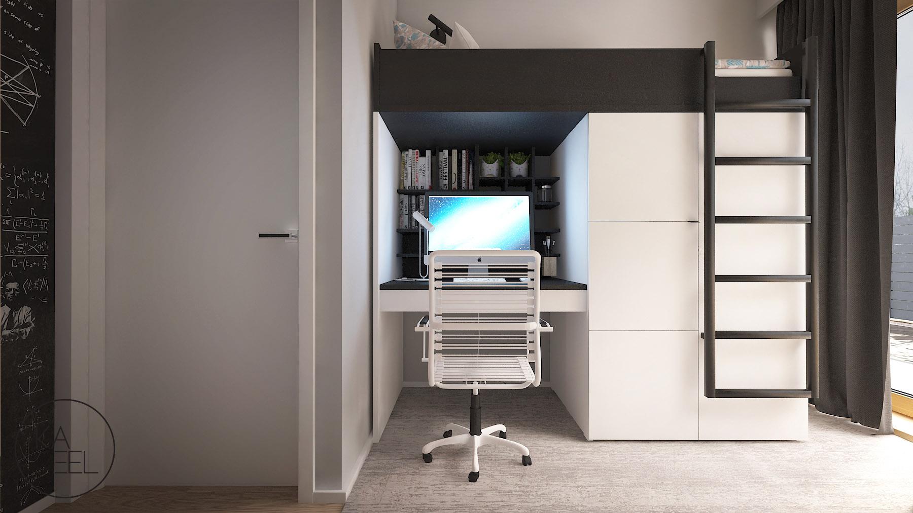 Biurko piętrowe w pokoju dziecięcem