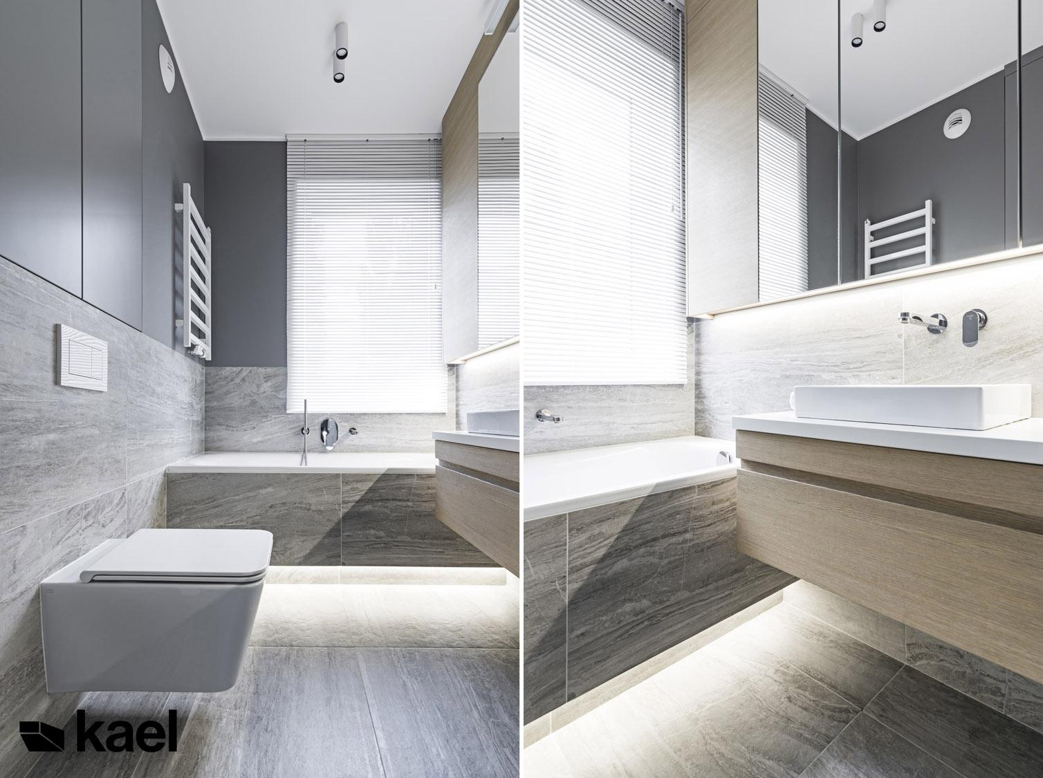 Łazienka - projekt wnętrza Międzyborska