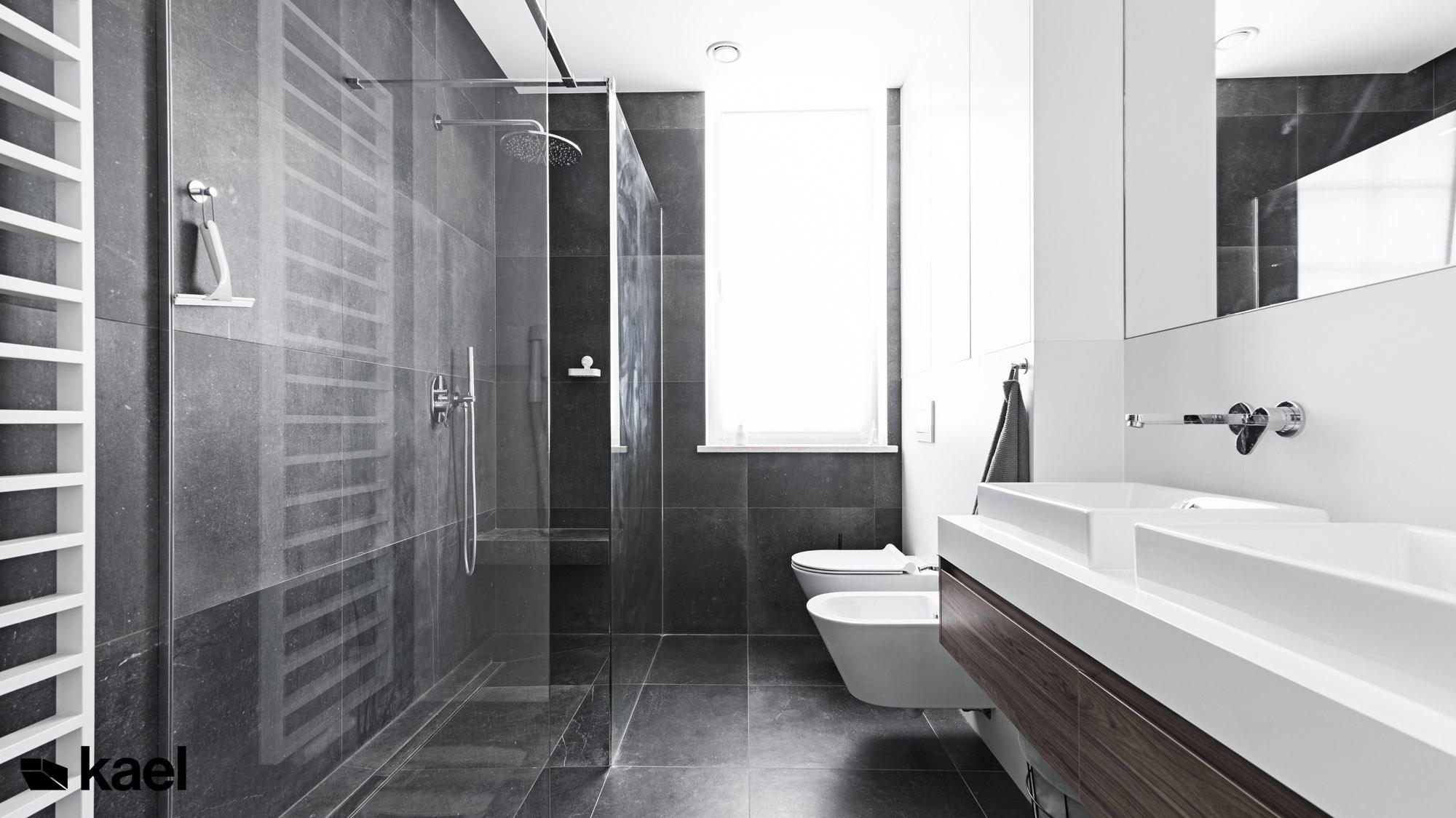Łazienka z prysznicem - projekt Czerwonych Dębów