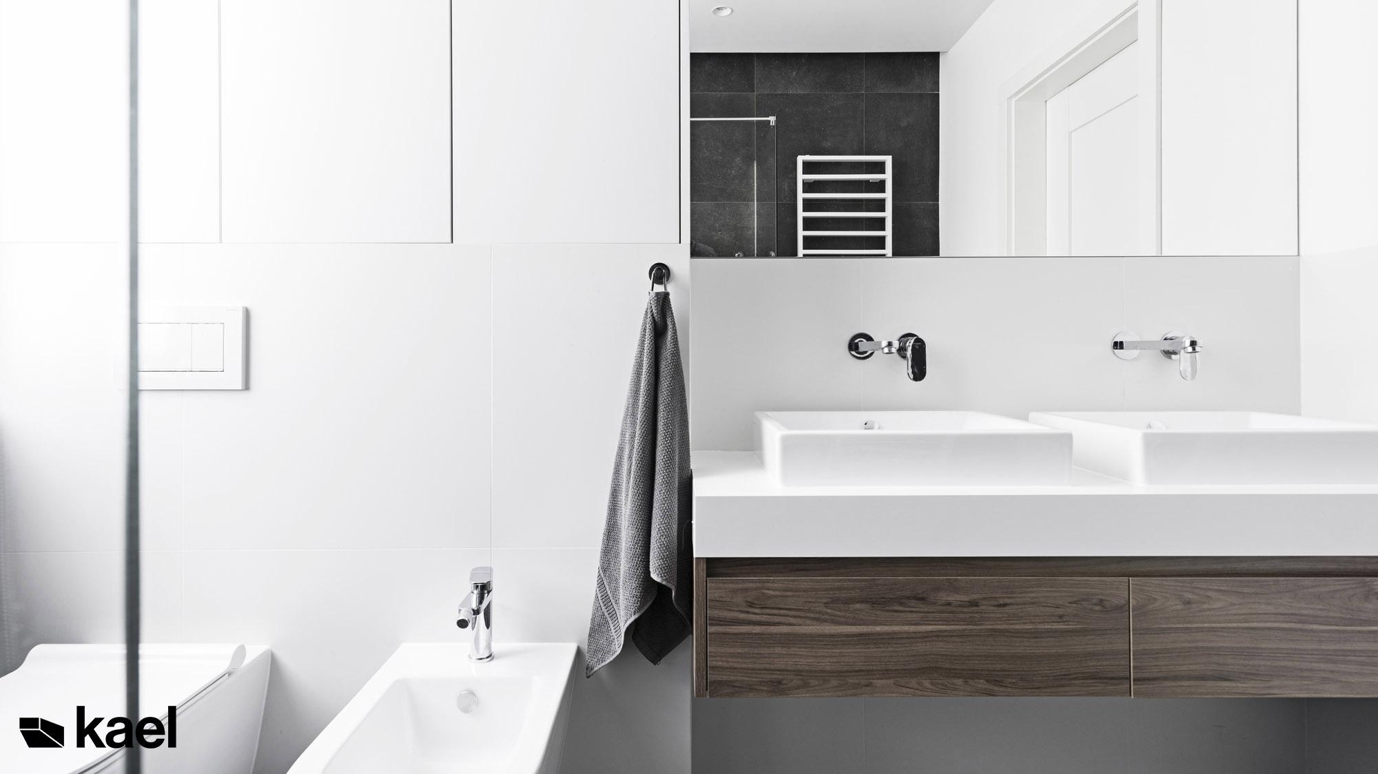 Łazienka w projekcie Czerwonych Dębów - projekt wnętrza domu jednorodzinnego