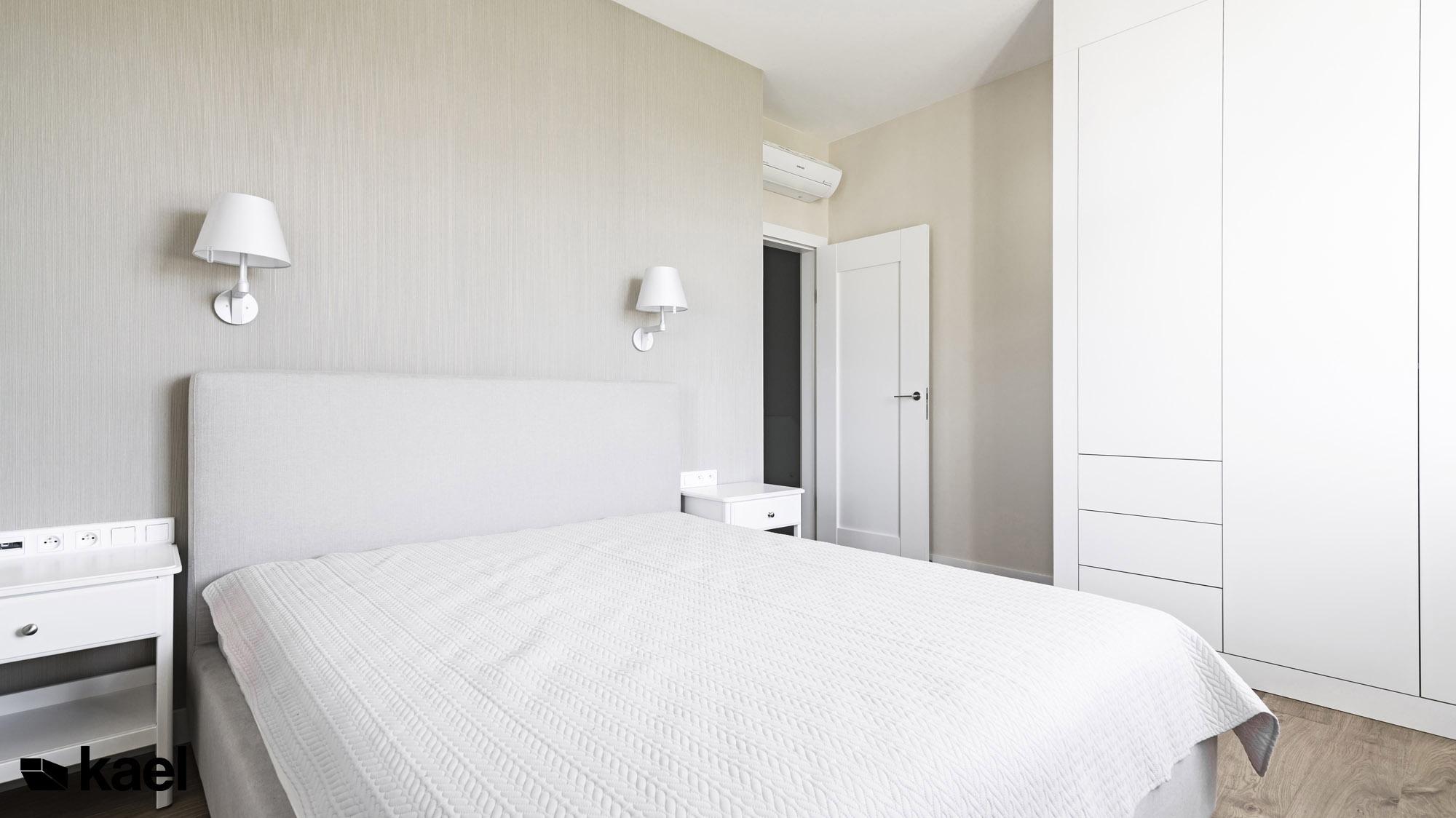 Sypialnia - Czerwonych Dębów - projekt wnętrza domu jednorodzinnego