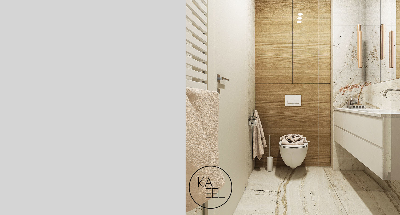 Panel drewniany za wc