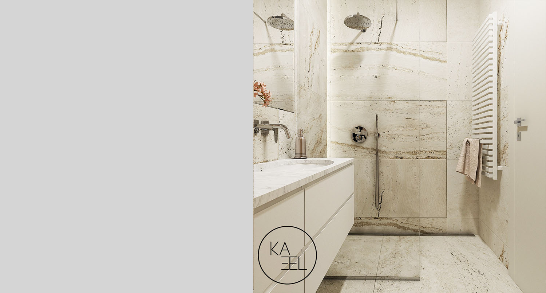 Trawertyn w łazience