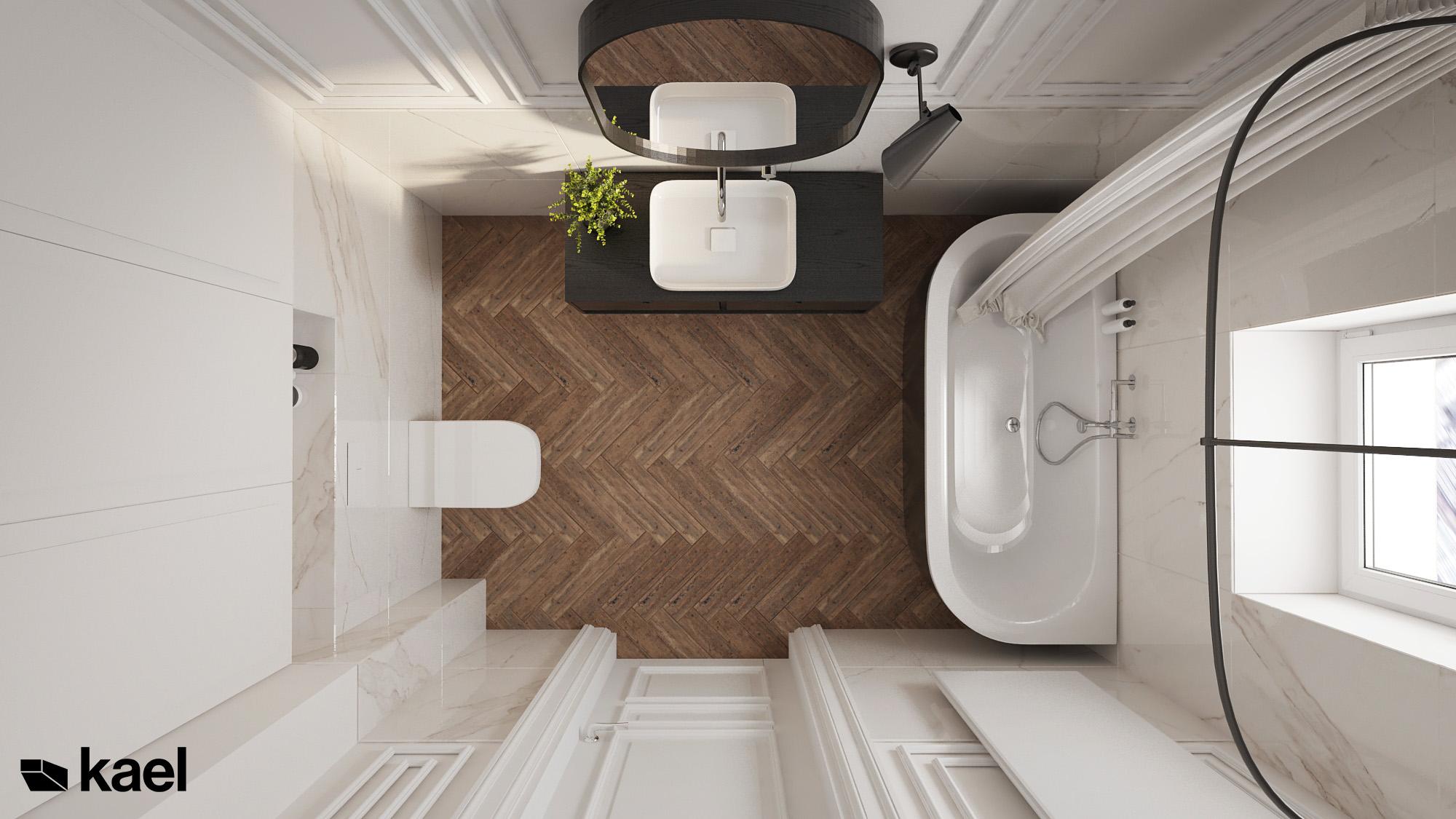 łazienka z wanną w kamienicy