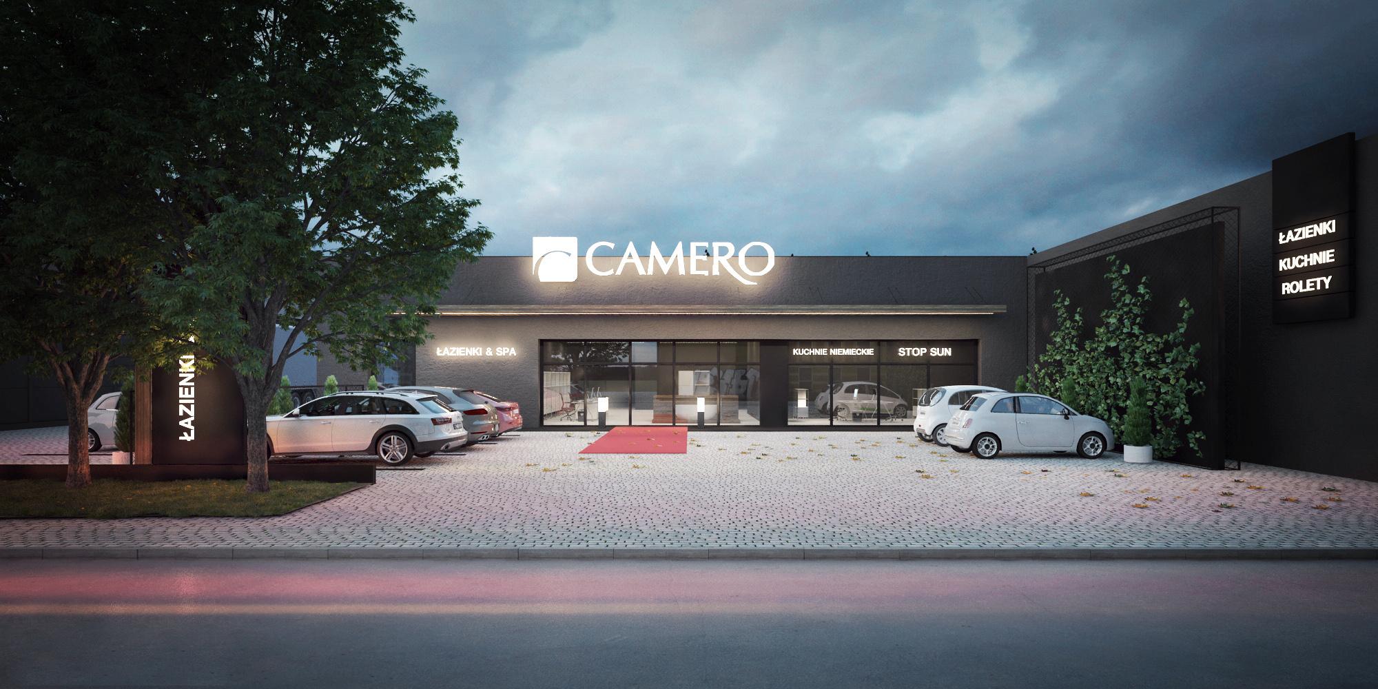 Projekt strefy wesjścia sklepu CAMERO w Lublinie