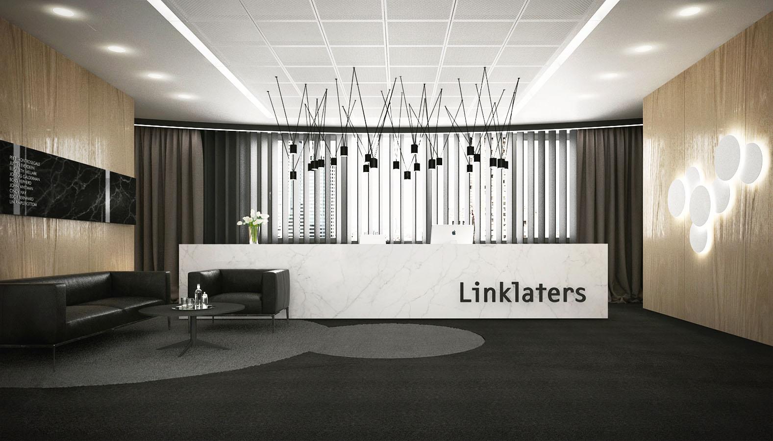 Projekt recepcji dla firmy Linklaters